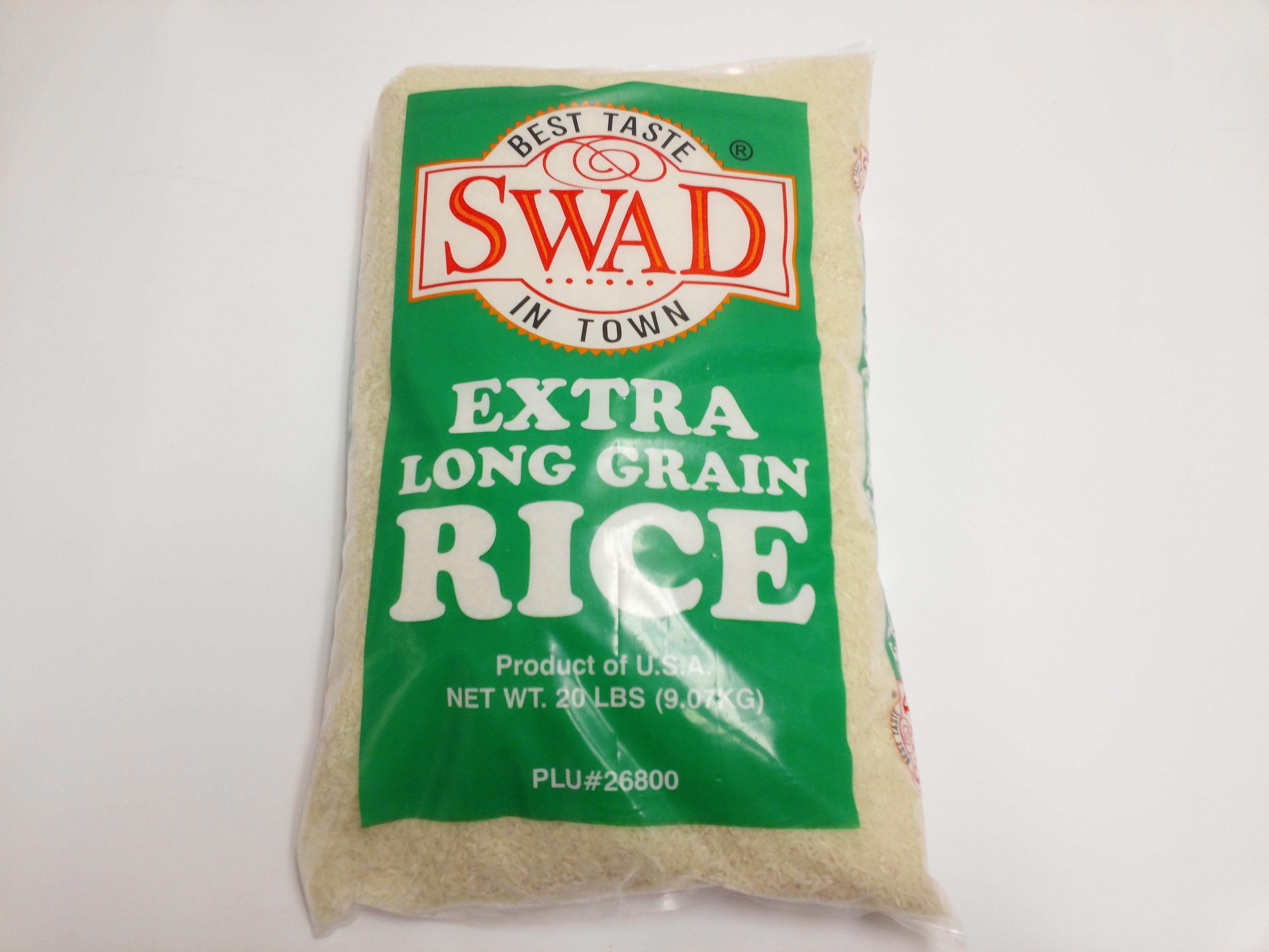 Swad Extra Long Grain Rice 20lb