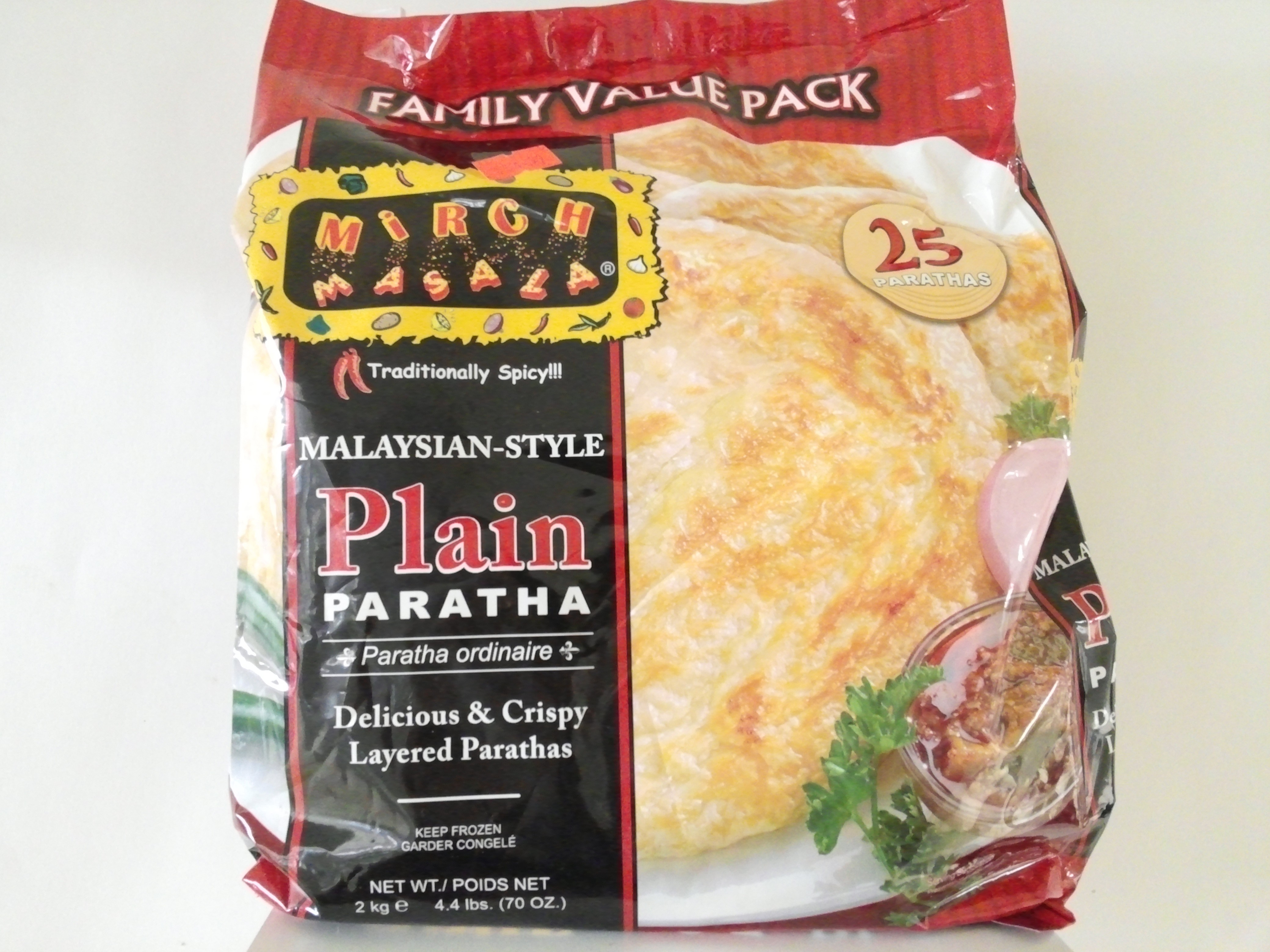 Mirch Masala Plain Paratha (Value Pack) 25 Pcs 70 oz