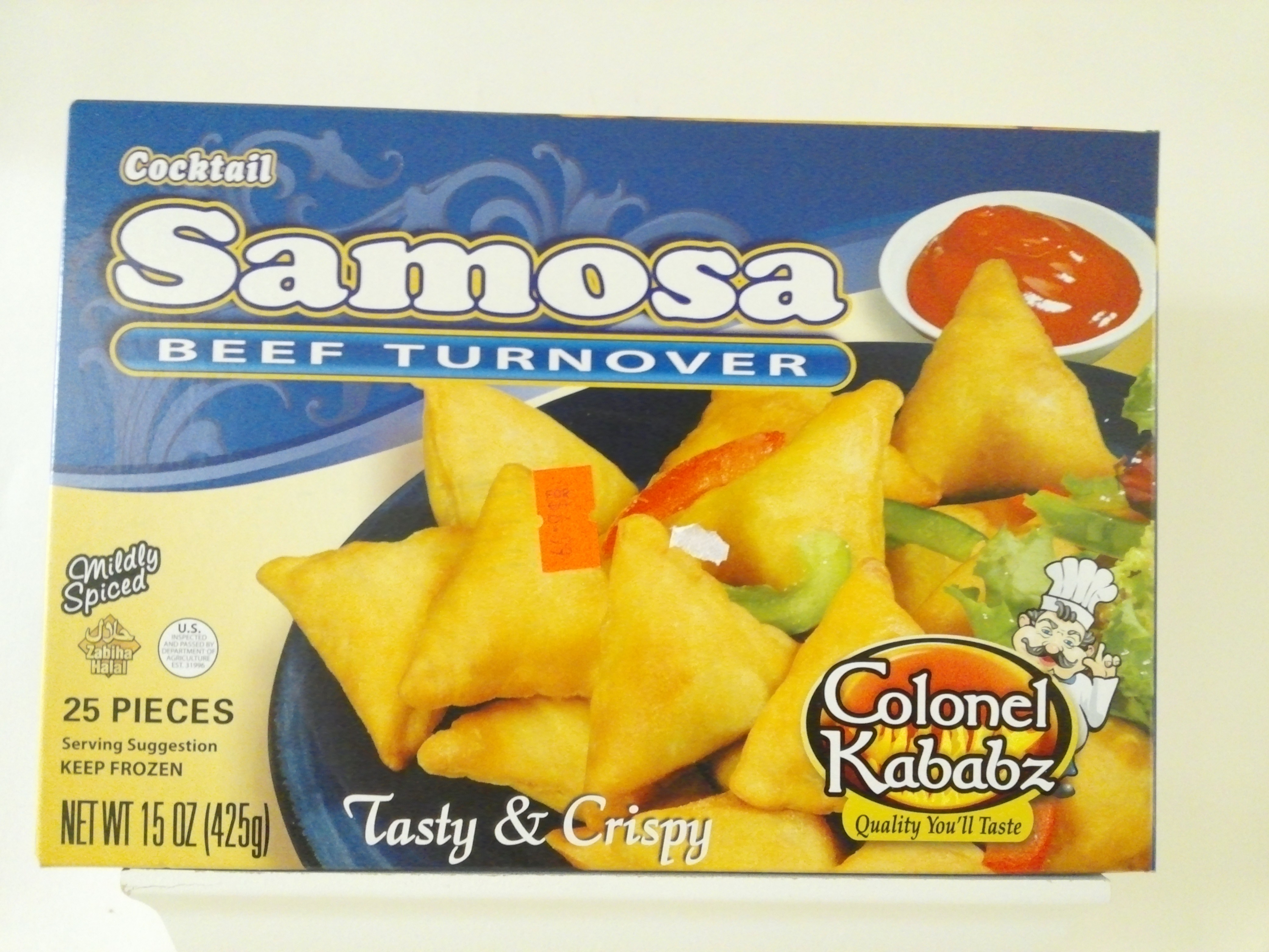 Colonel Cocktail Samosa Beef Turnover 25 pcs 15 oz