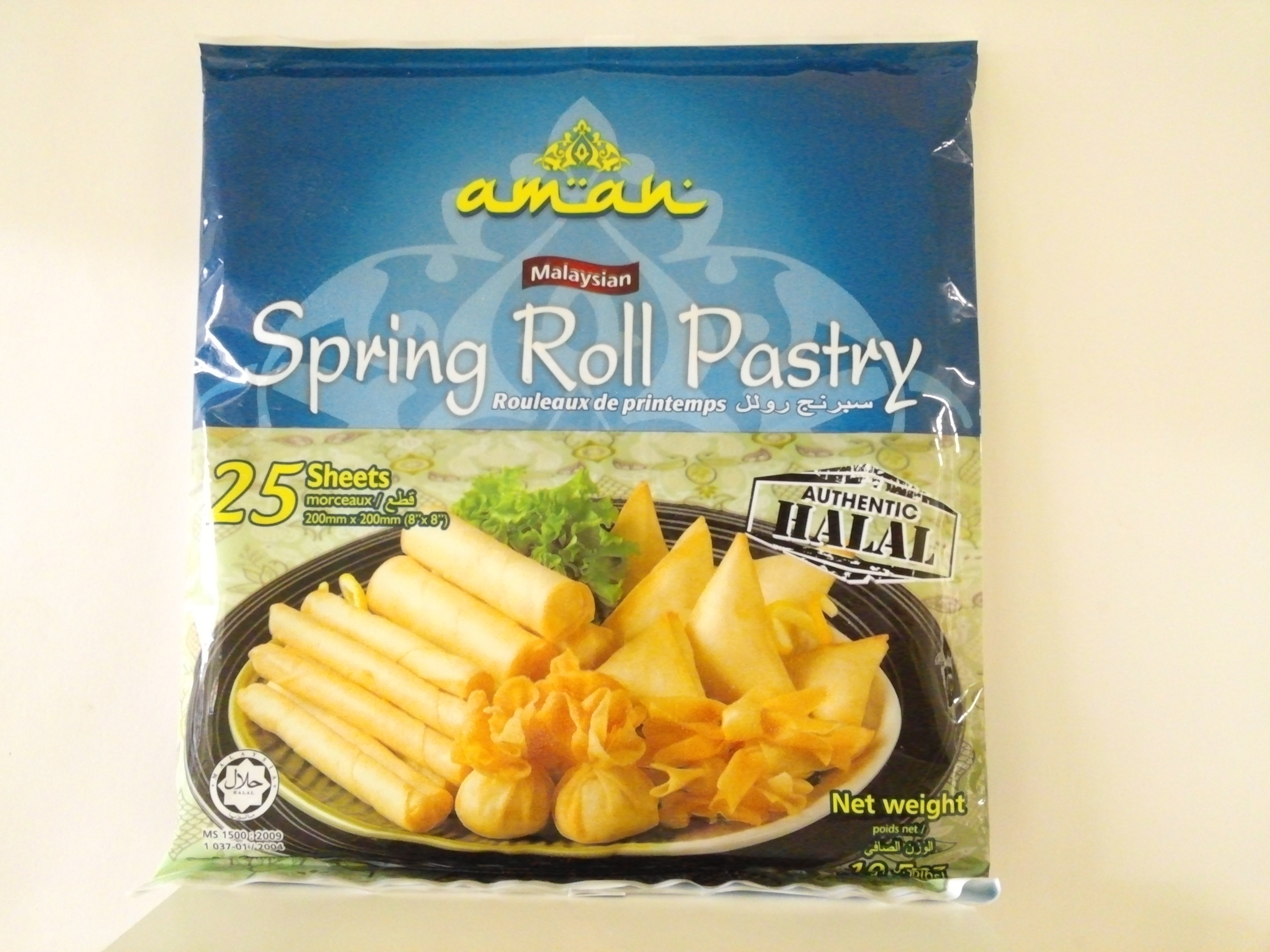 Aman Spring Roll Pastry 25 sheets 10.5 oz