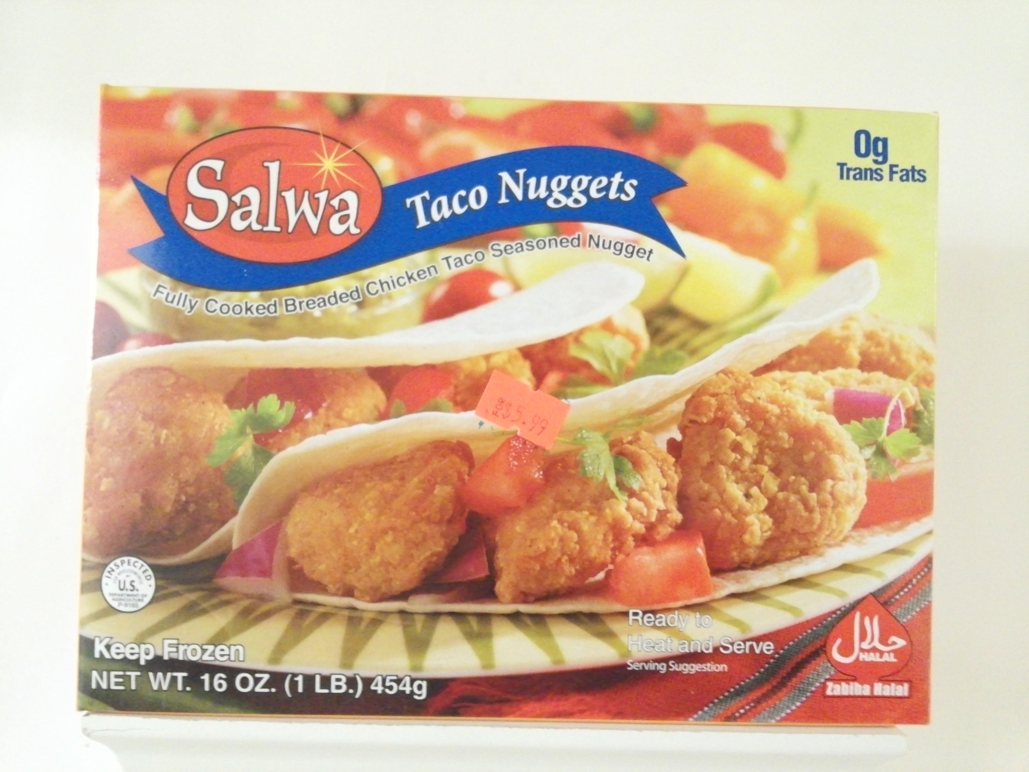Salwa Taco Nuggets 454 grm