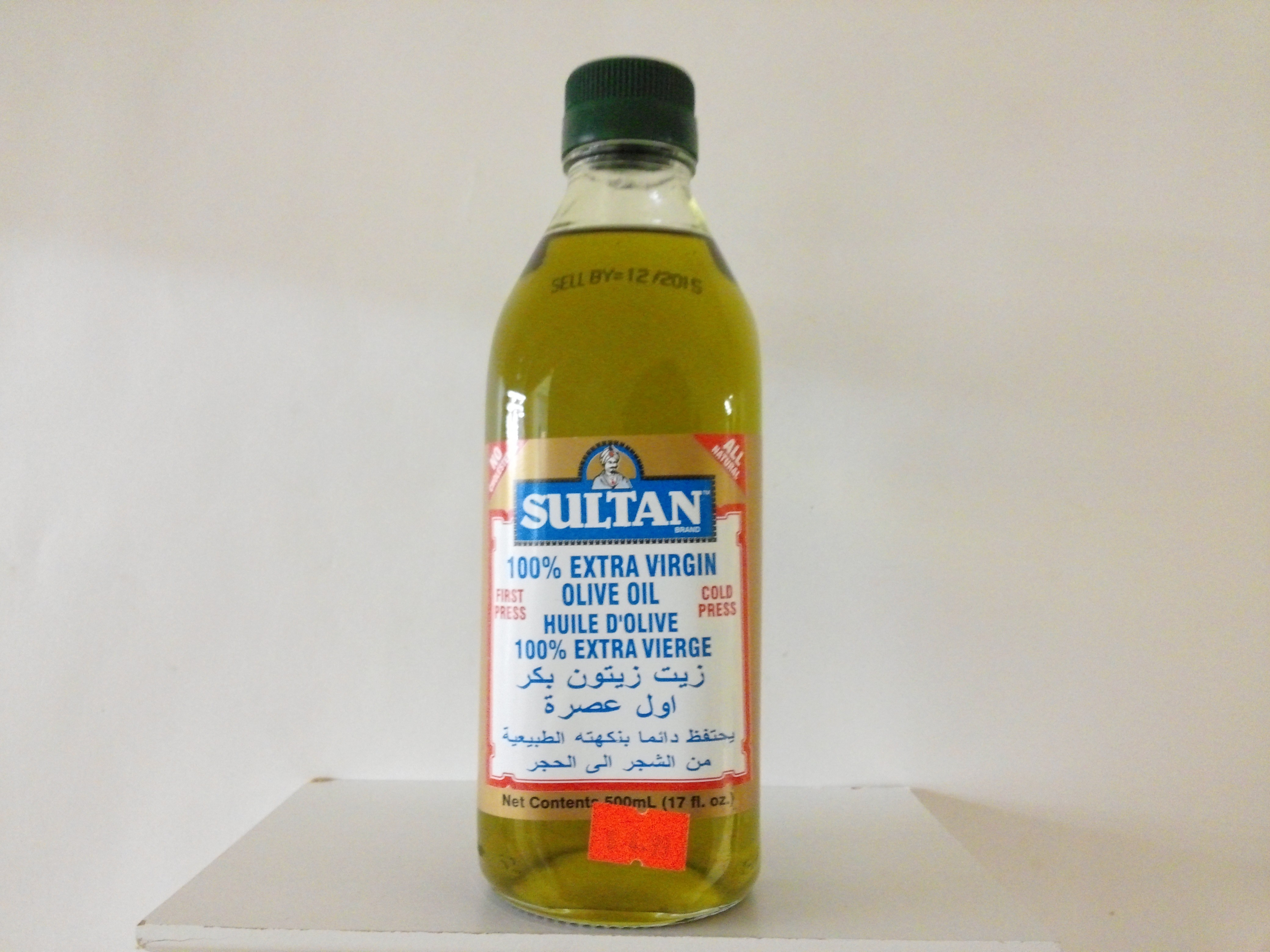 Sultan 100% Extra Virgin Olive Oil 17 oz