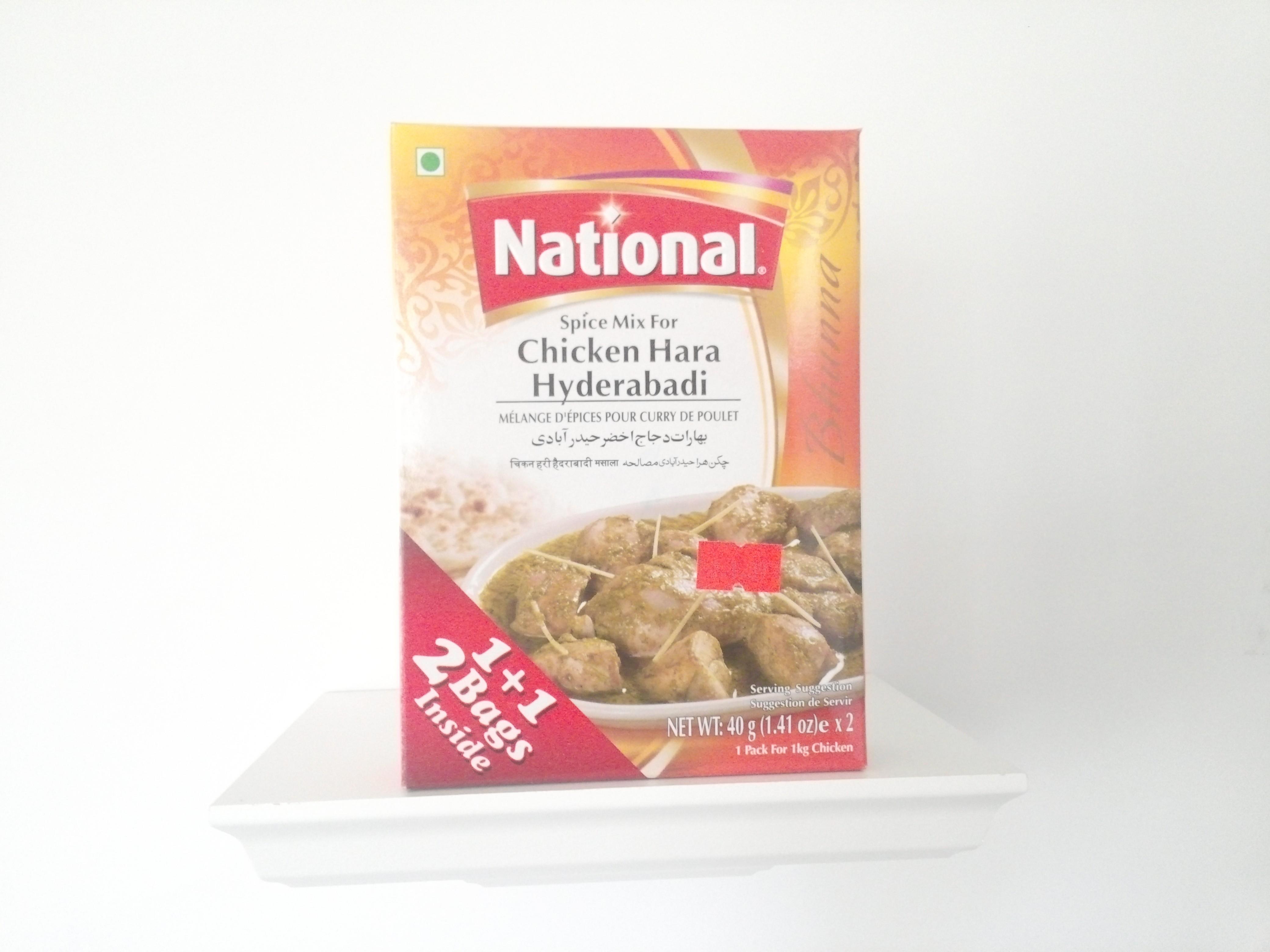 National Chicken Hara Hyderabadi Spice Mix 80 grm