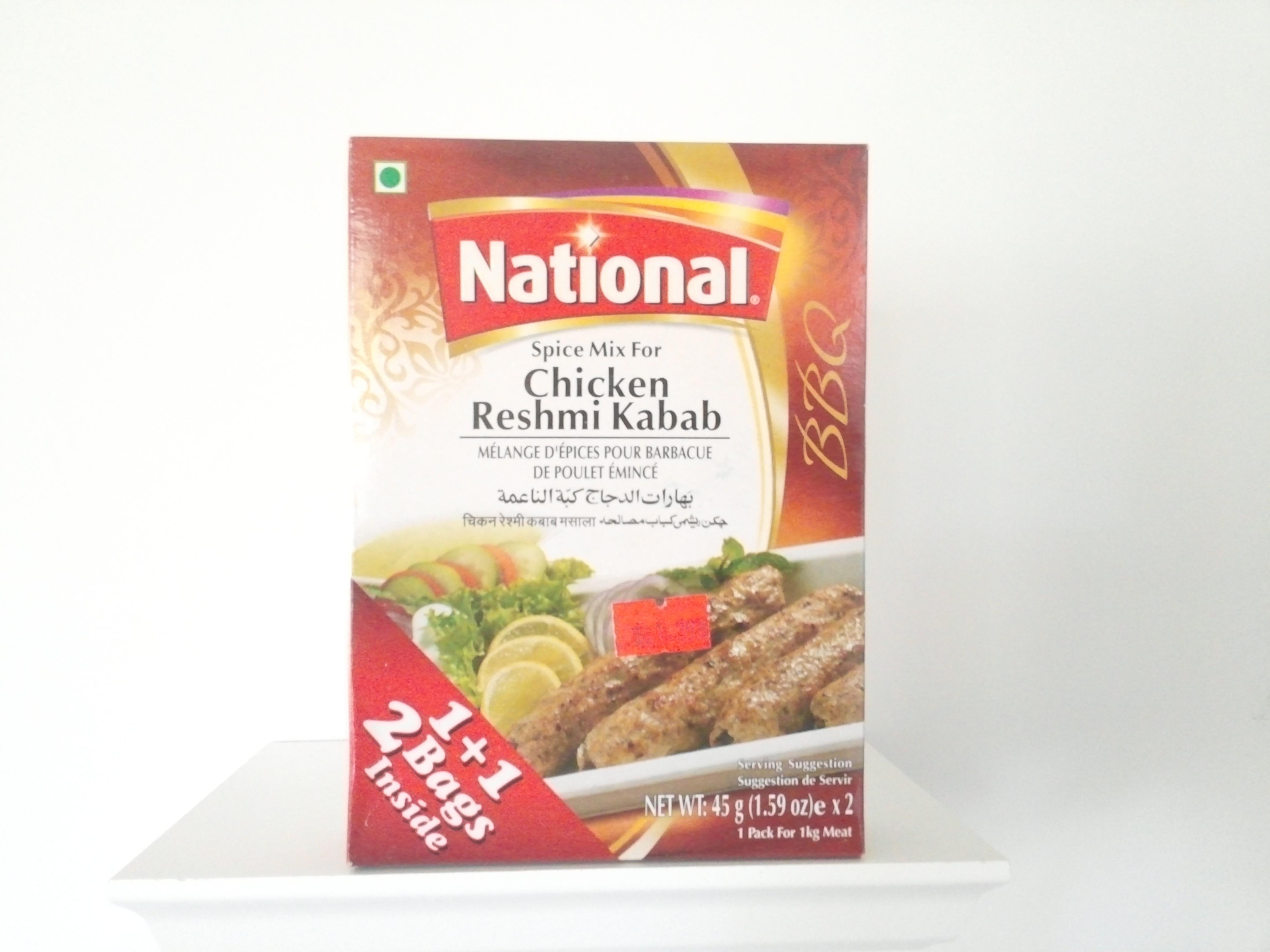 National Chicken Reshmi Kabab Spice Mix 90 grm
