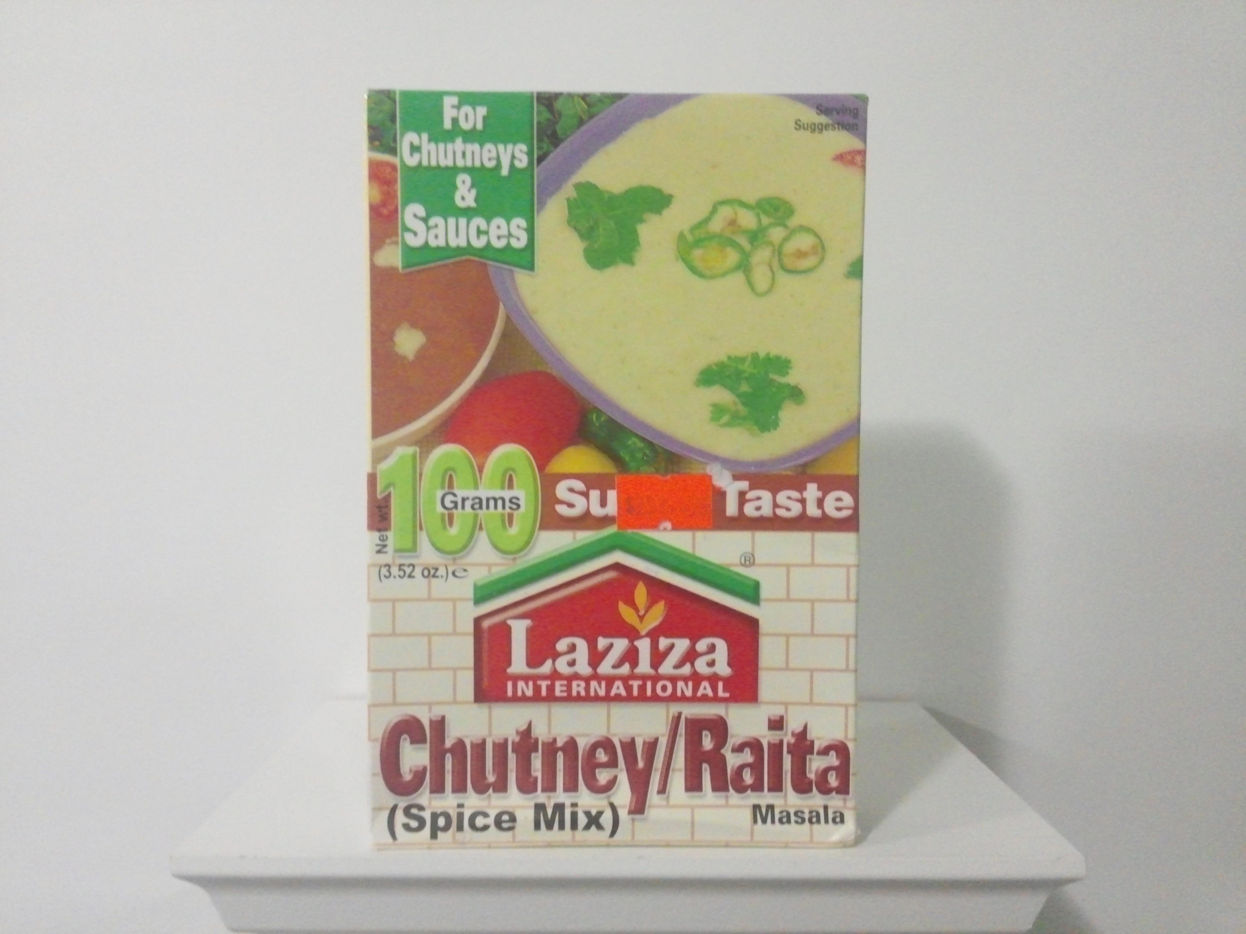 Laziza Chutney/Raita Spice Mix 100 grm