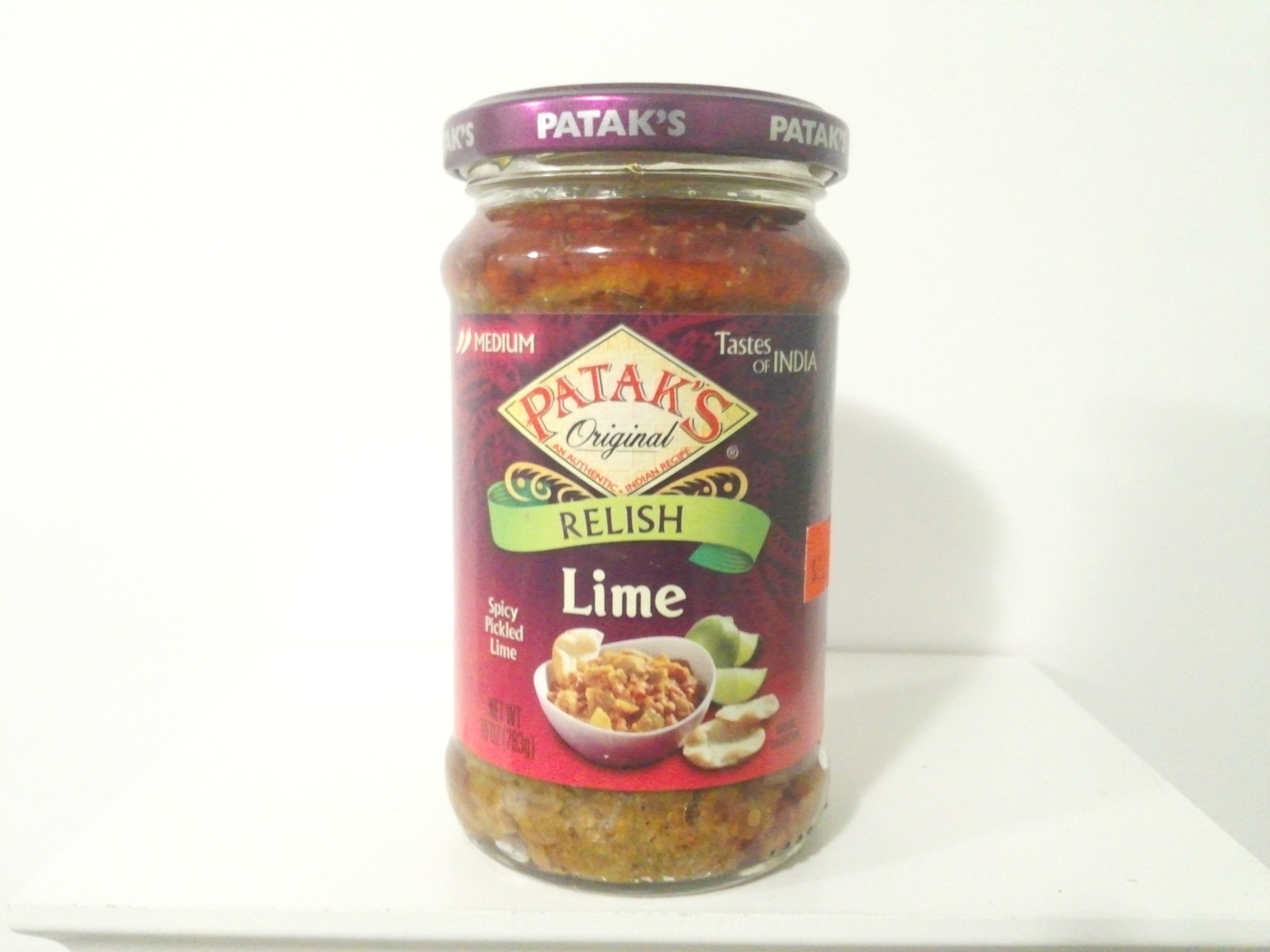 Patak's Lime Relish (Pickle) 283 grm