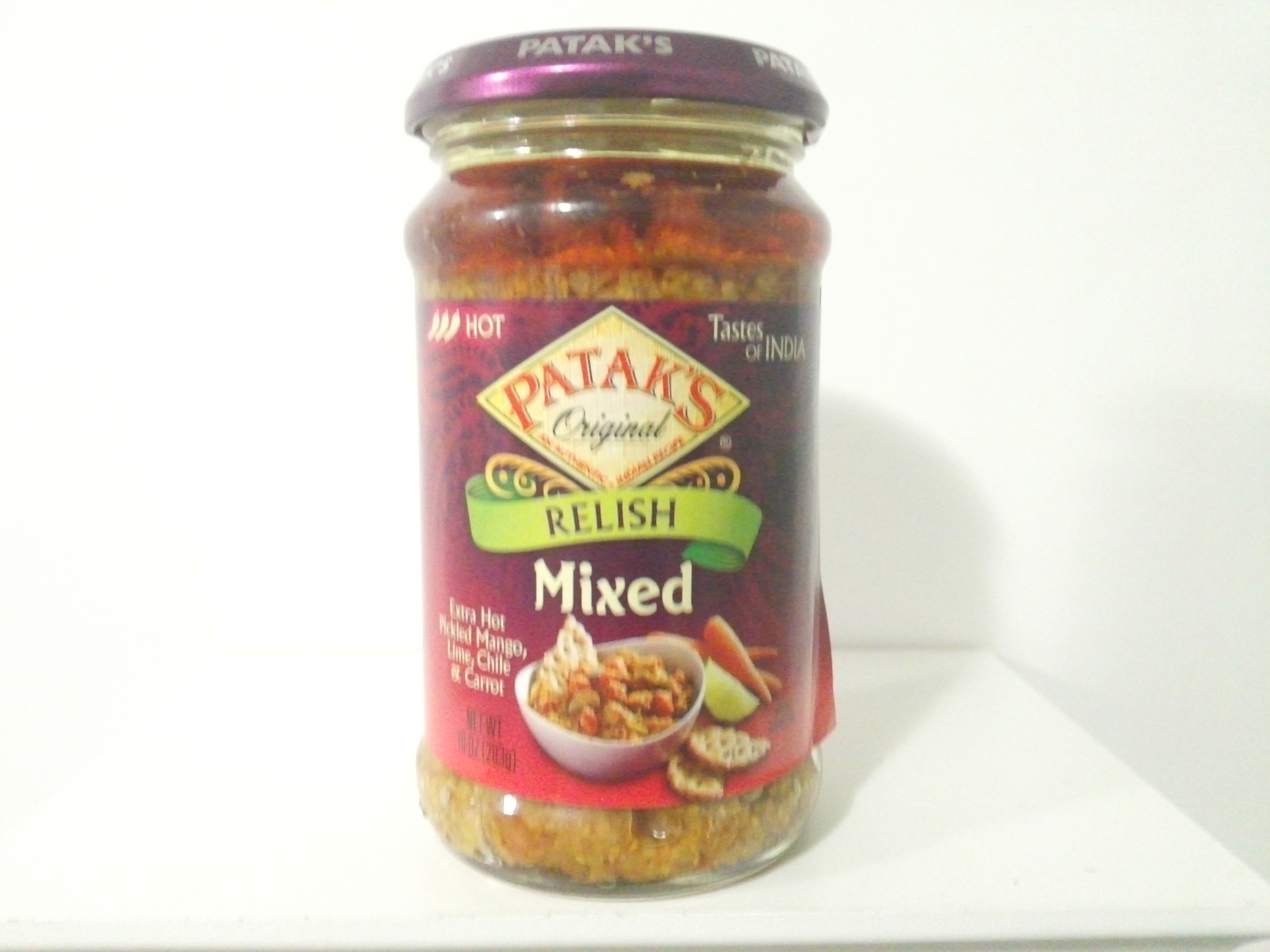 Patak's Mixed Relish (Pickle) 283 grm