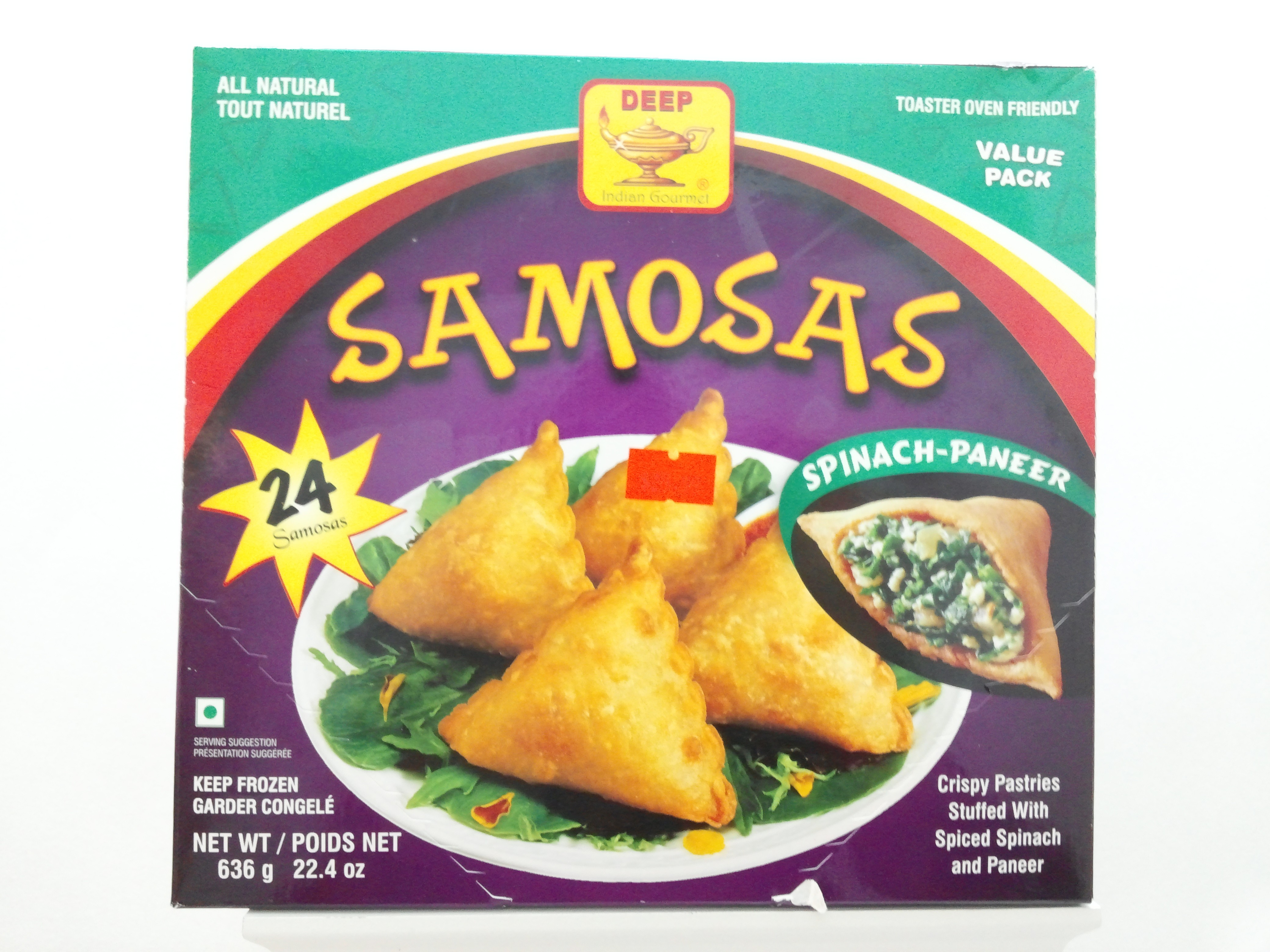 Deep Samosas Spinach-Paneer 24 pcs 22.4 oz