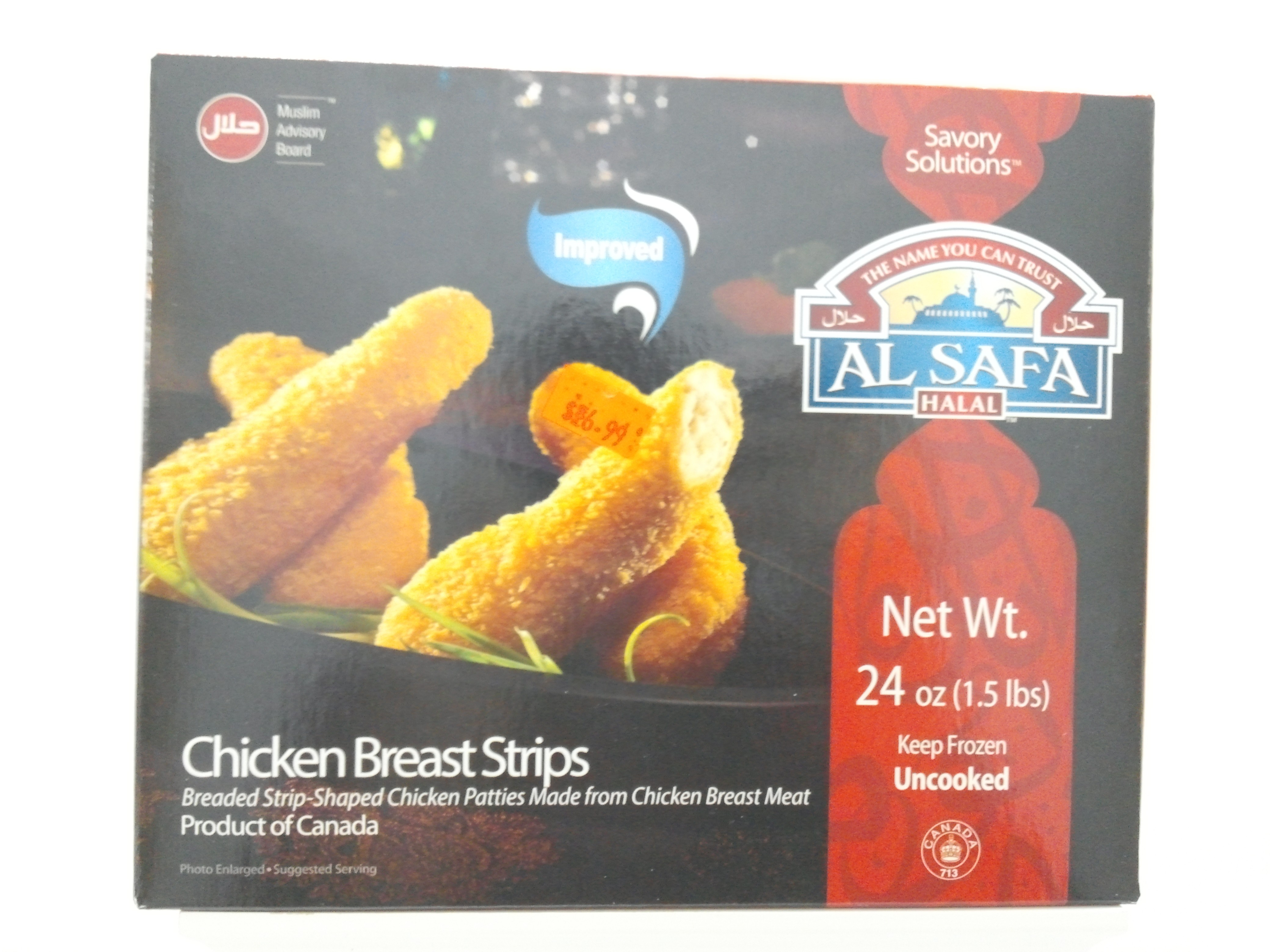 Al Safa Chicken Breast Strips 24 oz