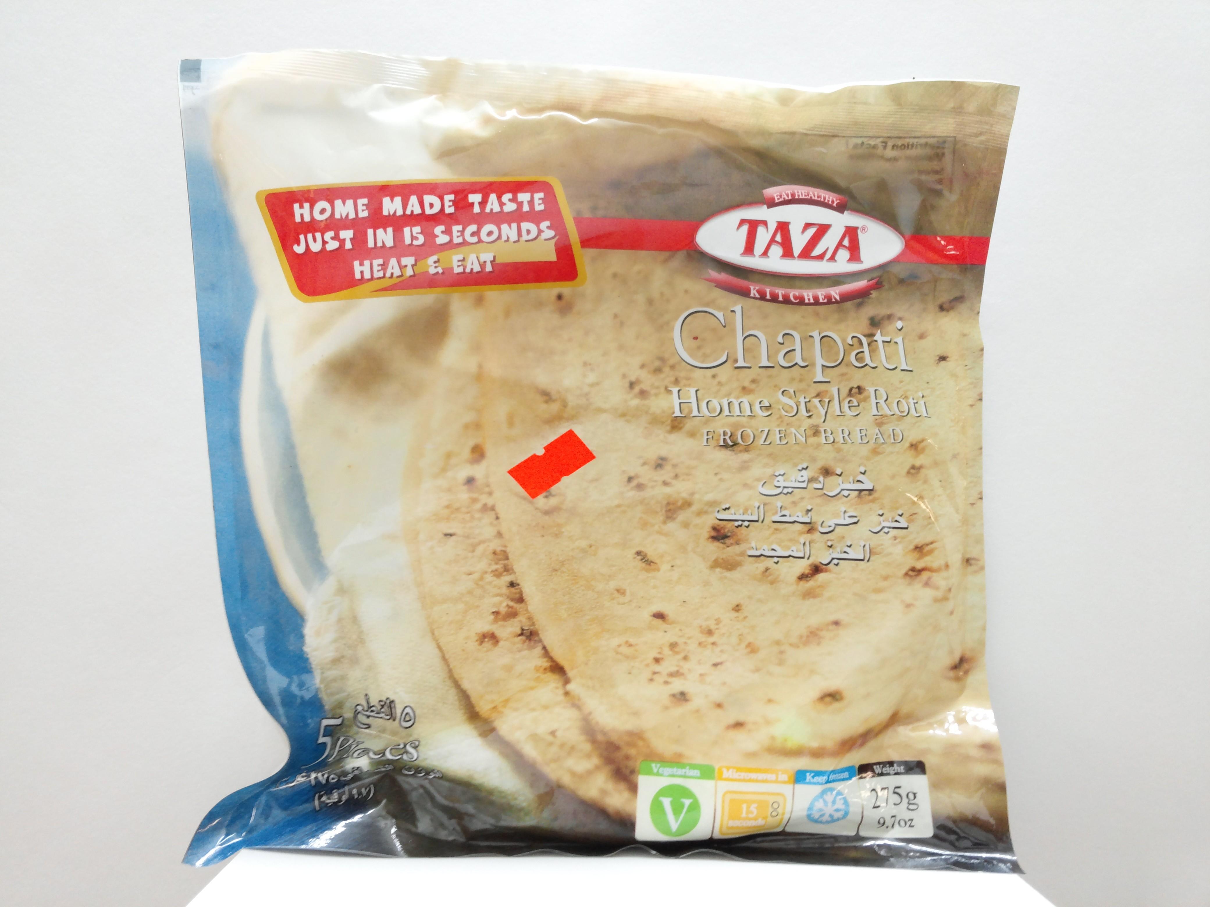 Taza Chapati Home Style Roti 5 Pcs 9.7 oz