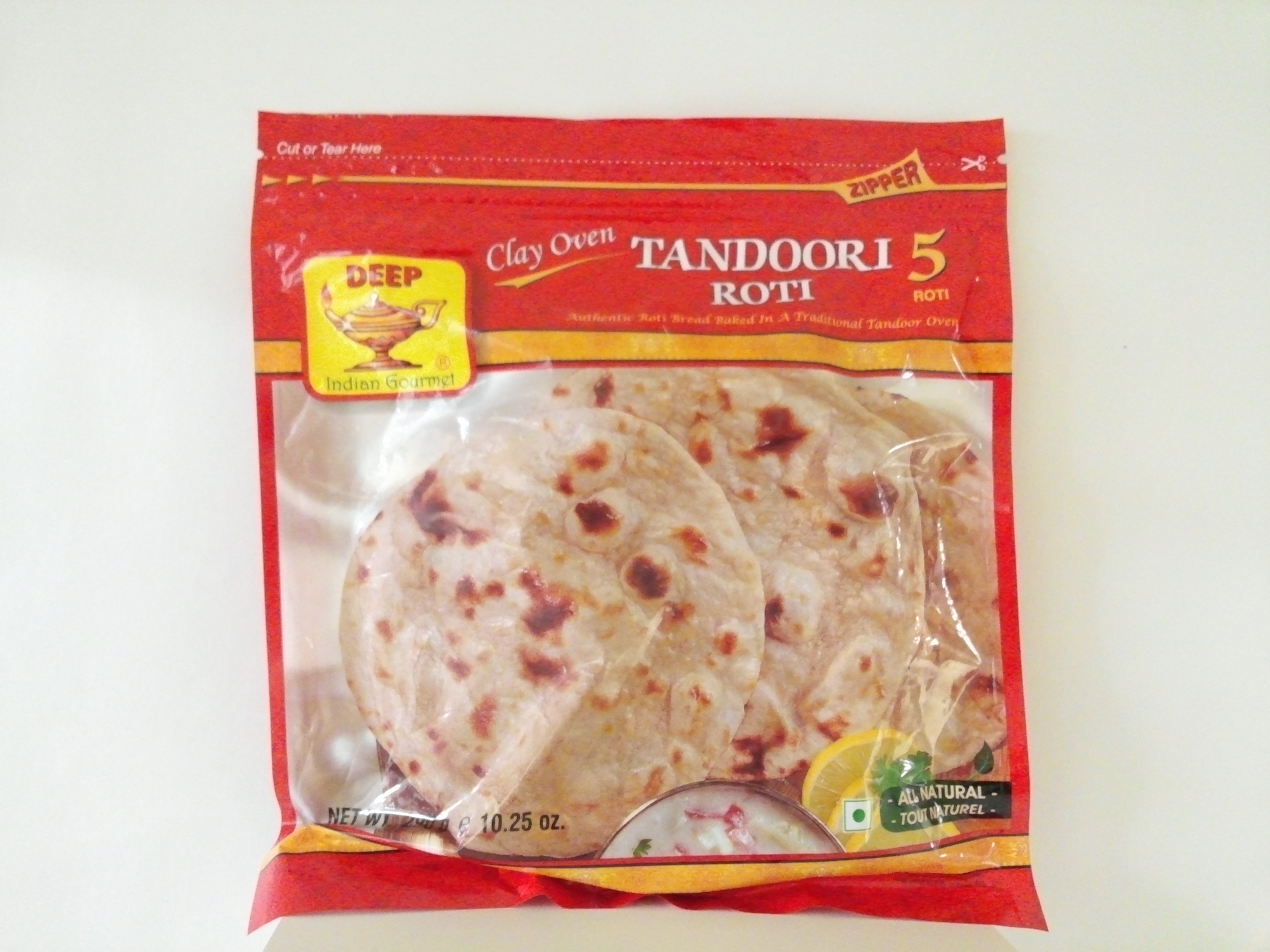 Deep Tandoori Roti 5 Pcs 10.25 oz