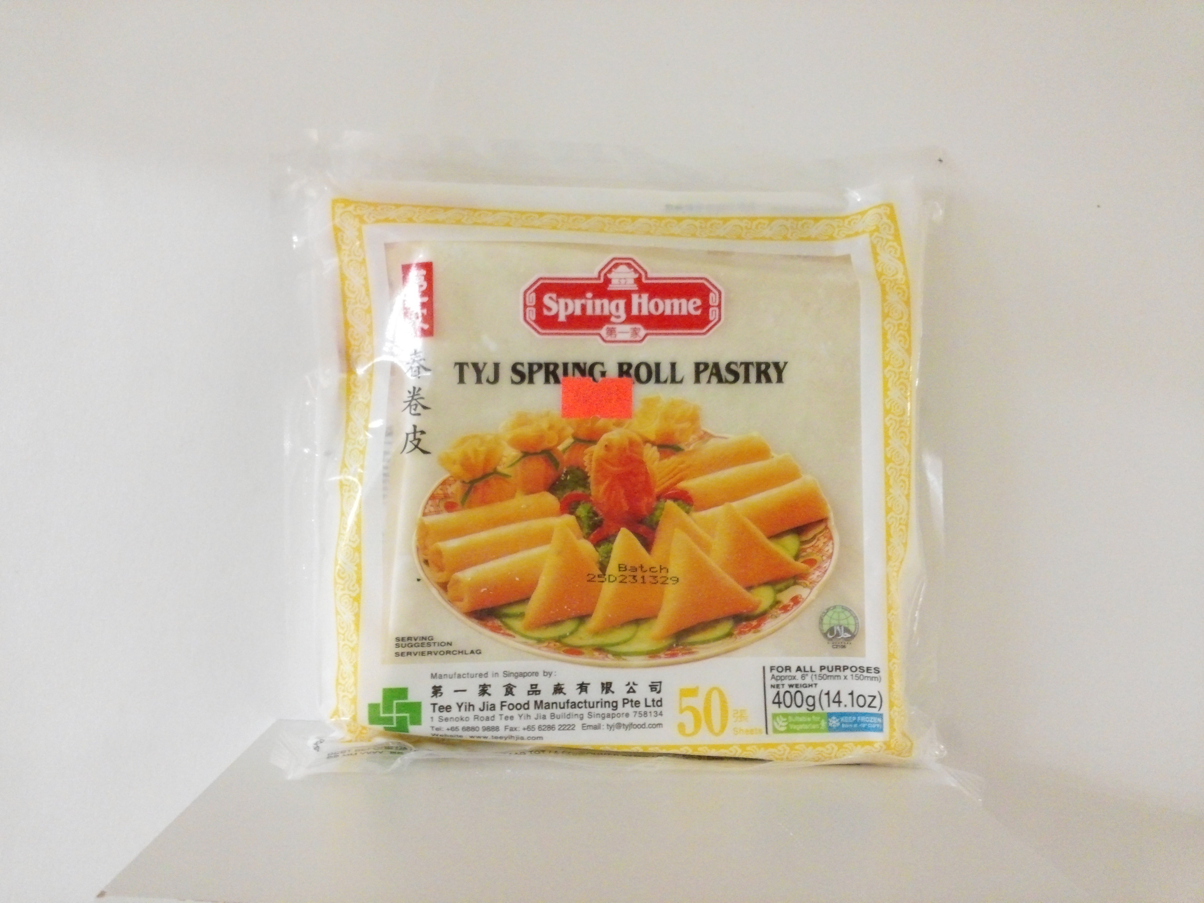 TYJ Spring Roll Pastry 50 sheets 14.1 oz