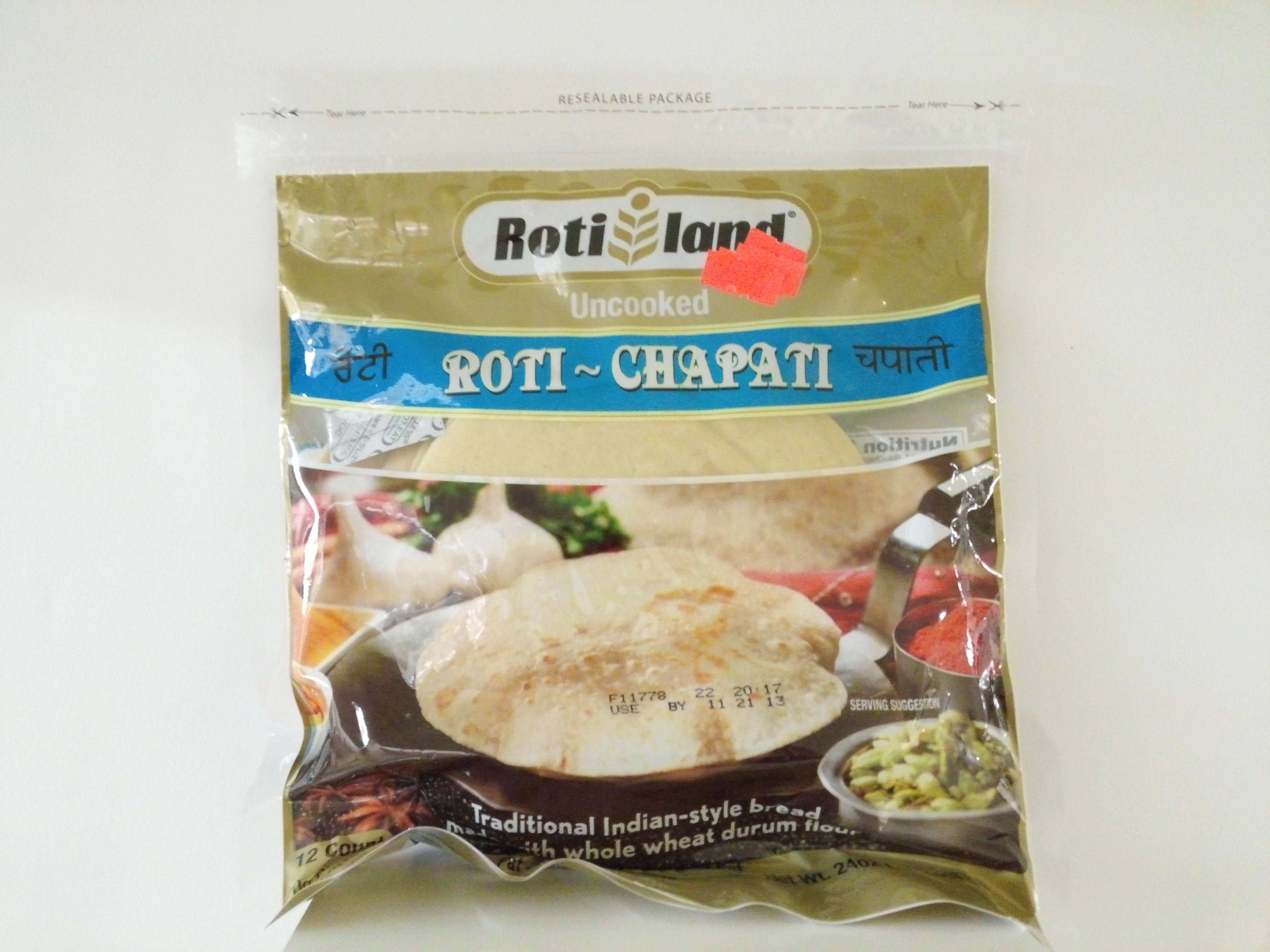 Rotil Fresh Uncooked Roti 36 pcs 72 oz
