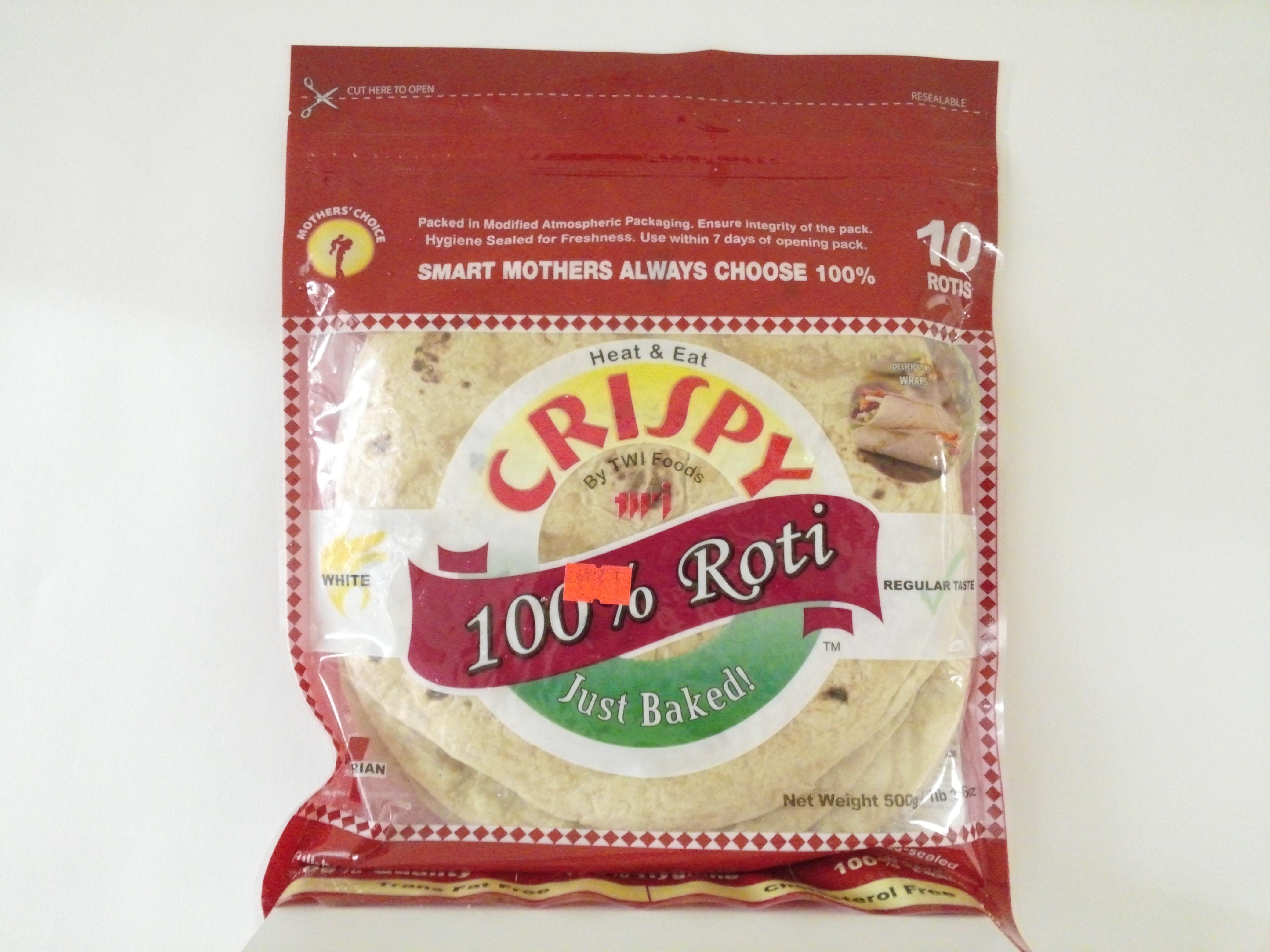 Crispy White Roti 10 Pcs 1.6 oz