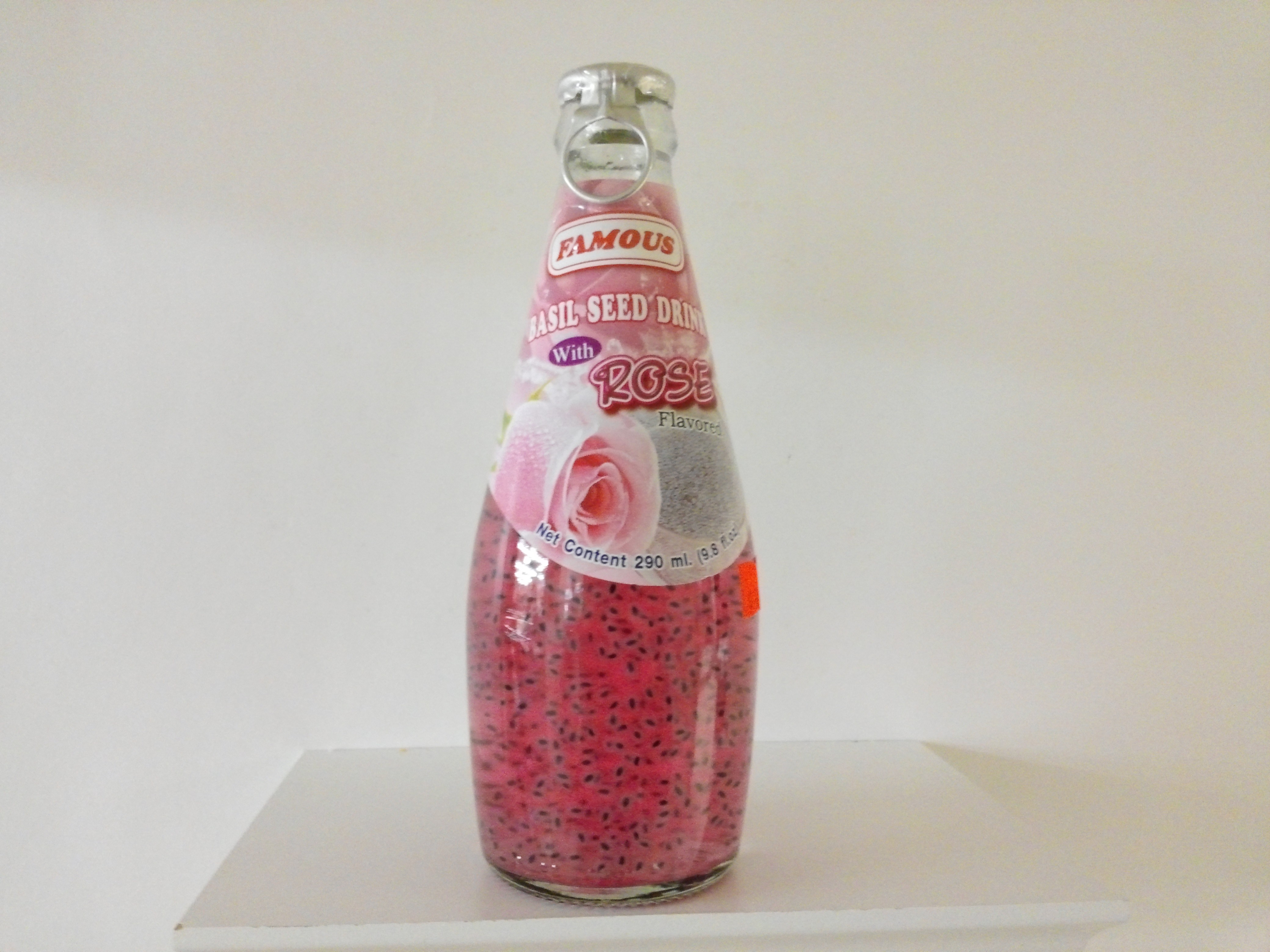 Basil Seed Drink with Rose  9.8 oz