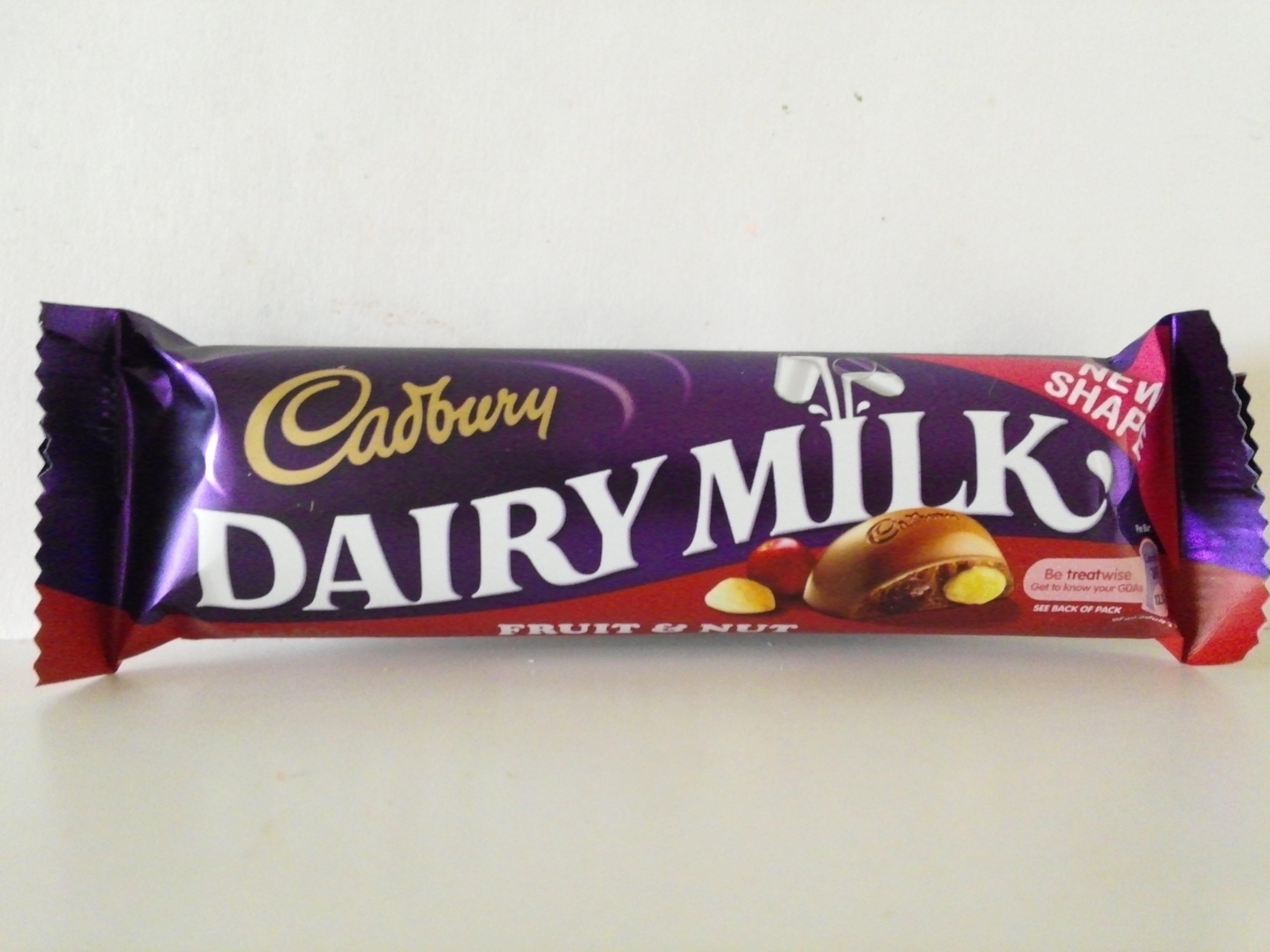 Cadbury Dairy Milk Fruit & Nut 45 grm
