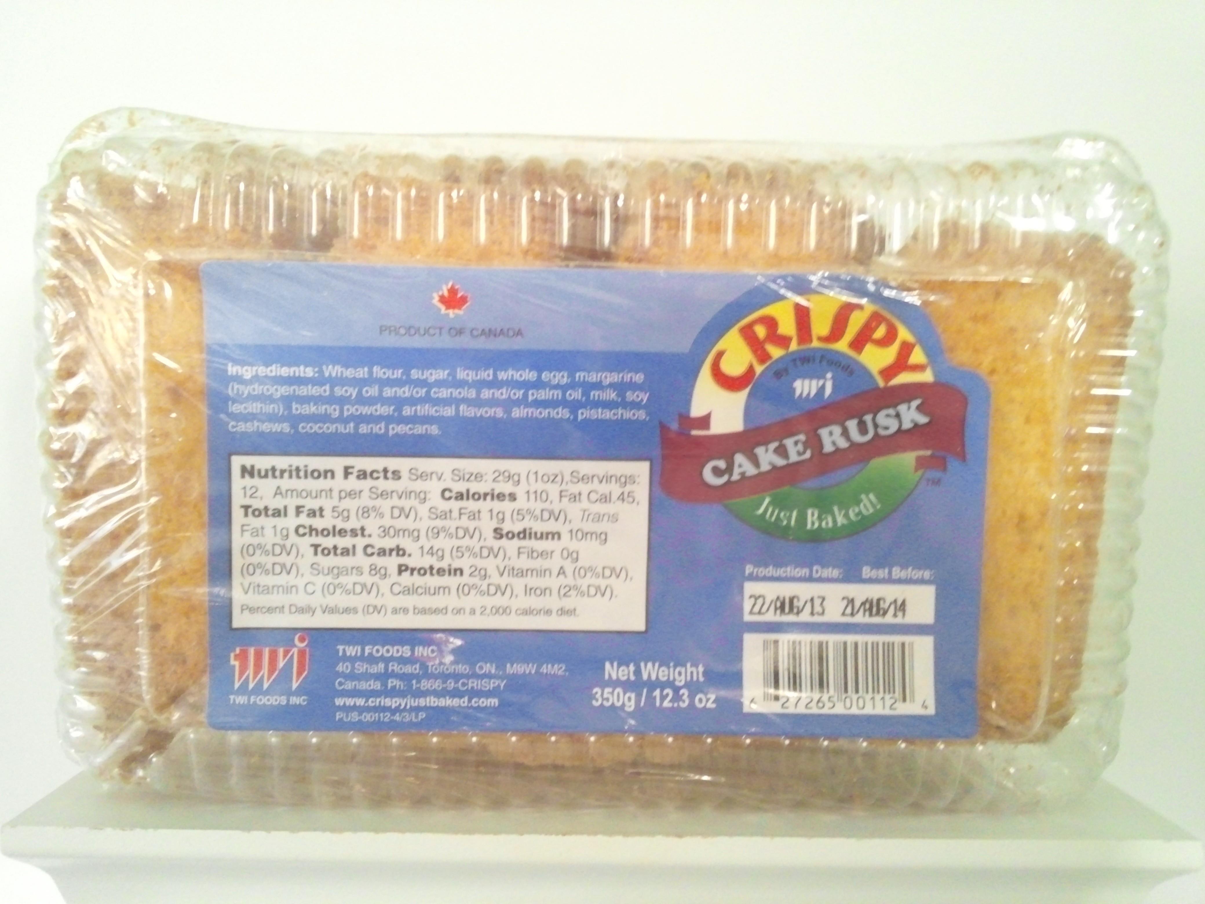 Crispy Cake Rusk 350 grm