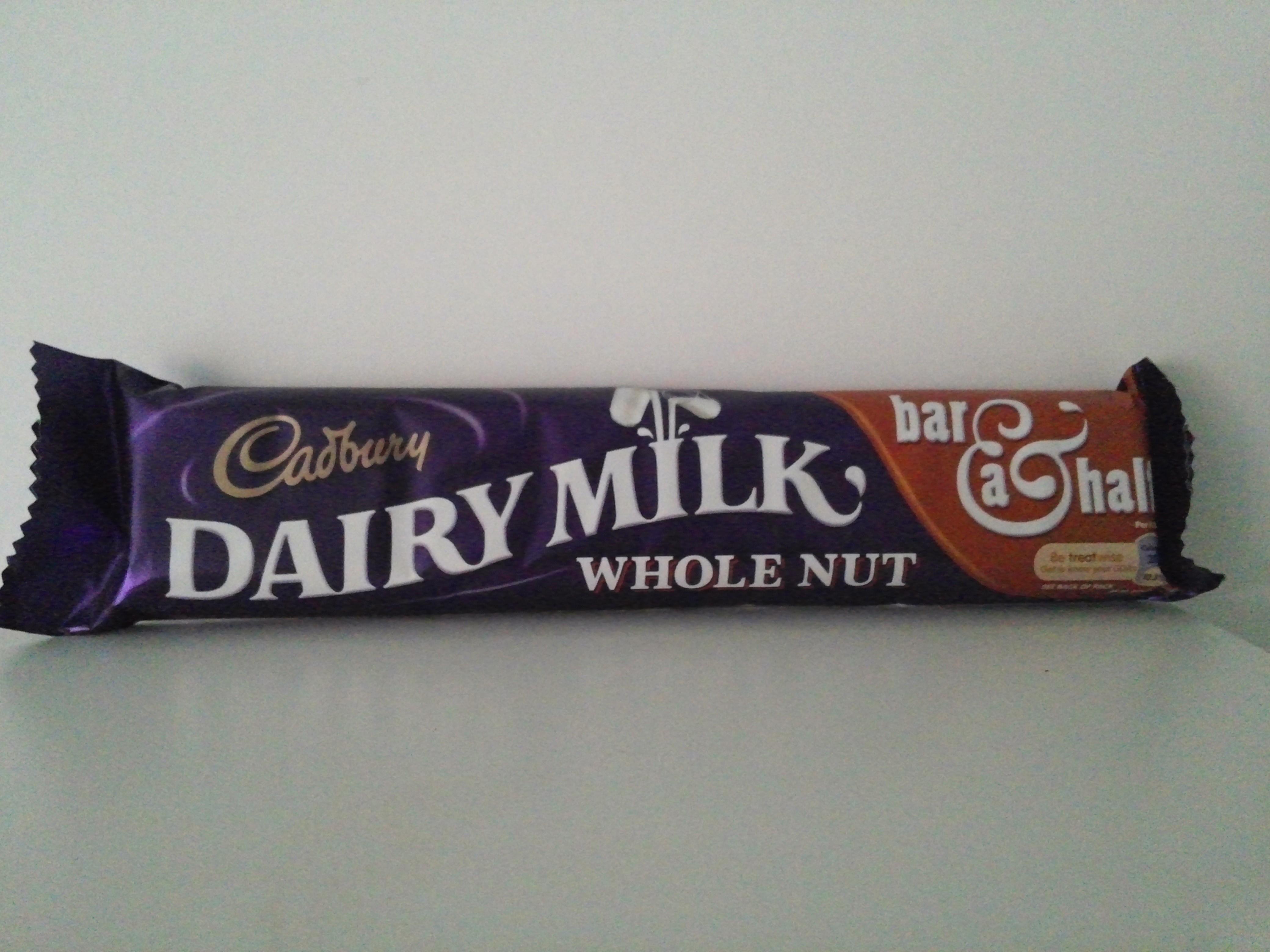 Cadbury Dairy Milk Whole Nut 120 grm