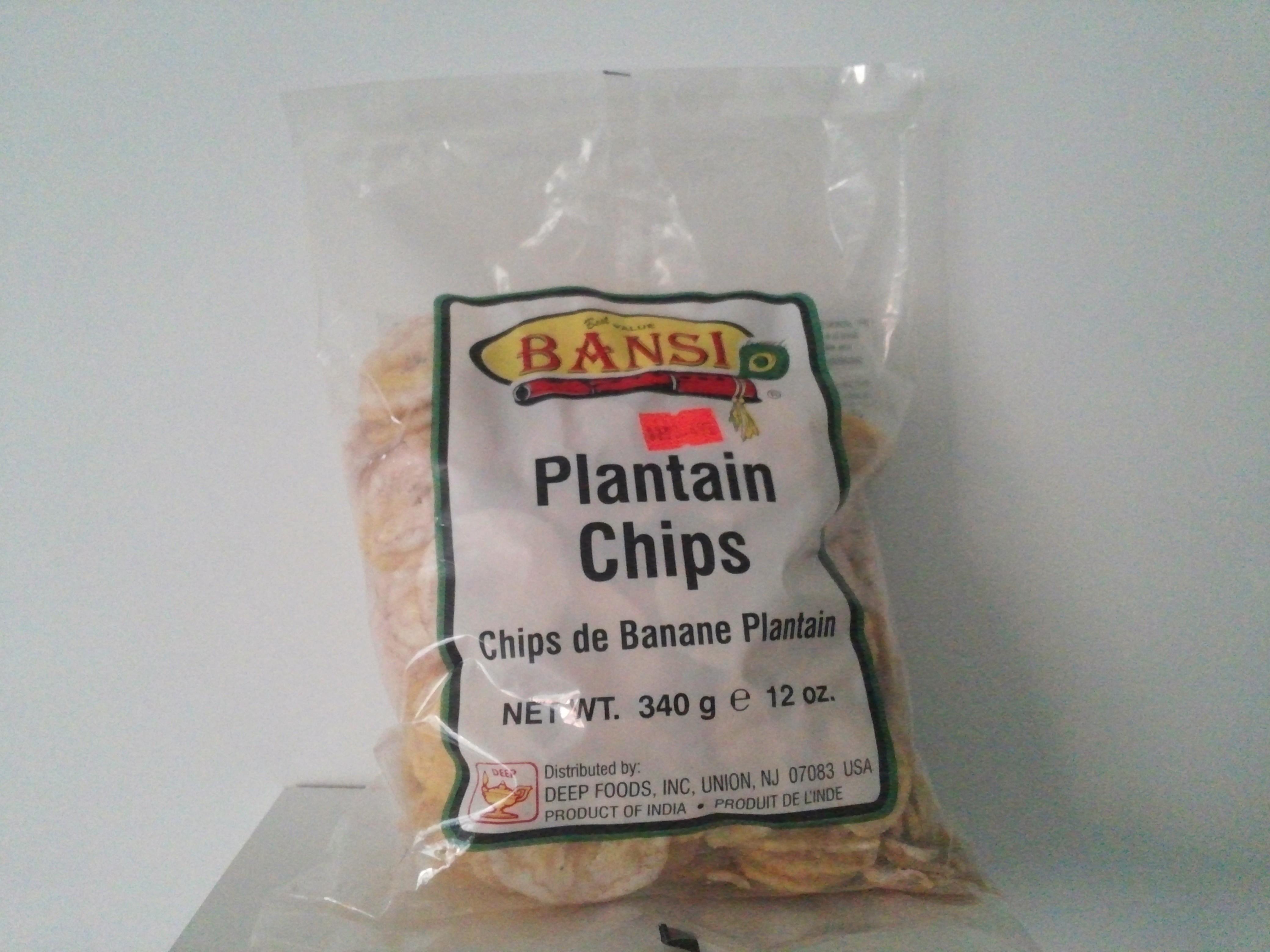 Bansi Banana Chips 12 oz