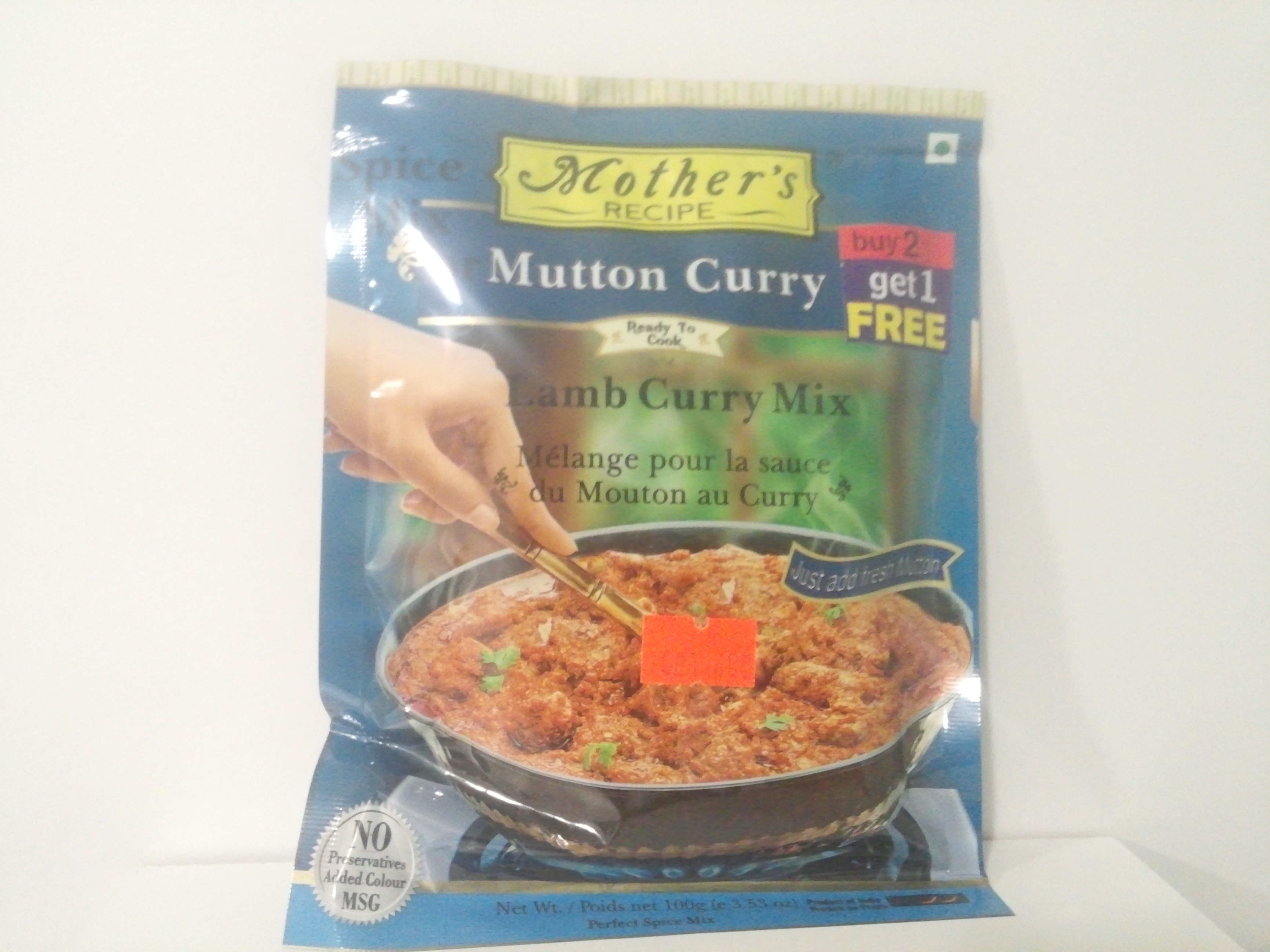 Mother's Lamb Curry Mix 100 grm