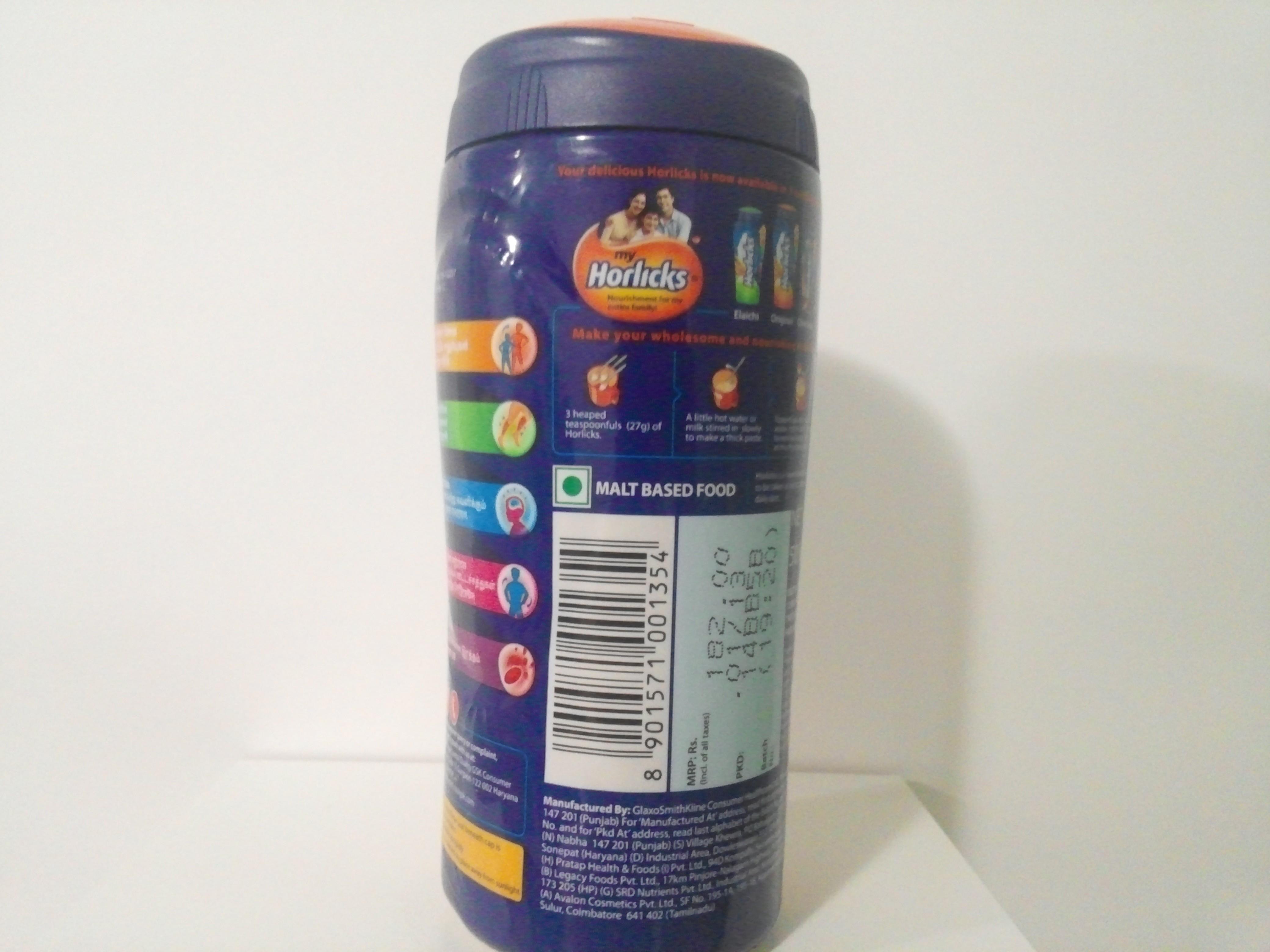 Horlicks Malt Drink Mix Plain 500 grm
