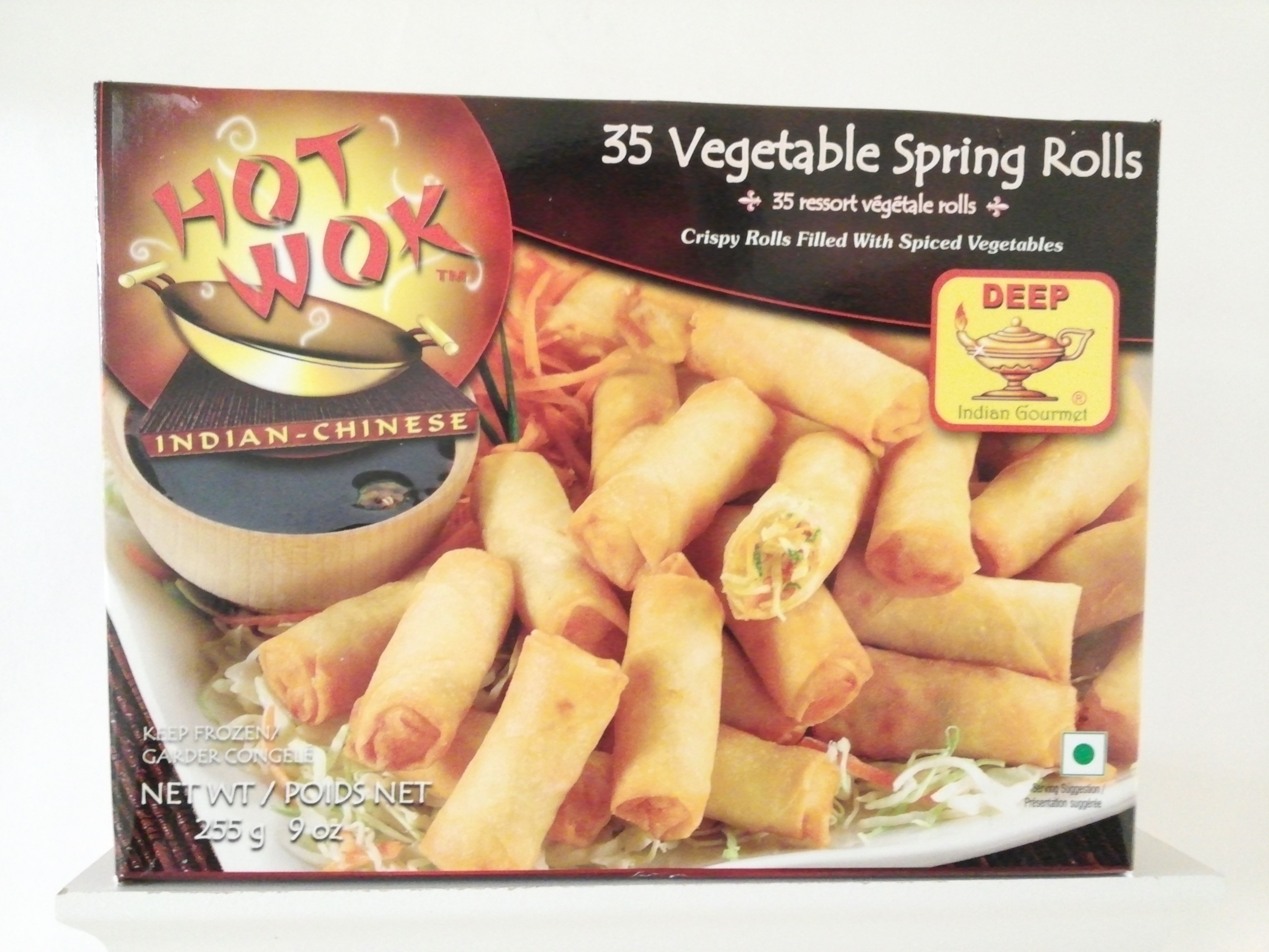 Deep Vegitable Spring Rolls 35 pcs 9 oz