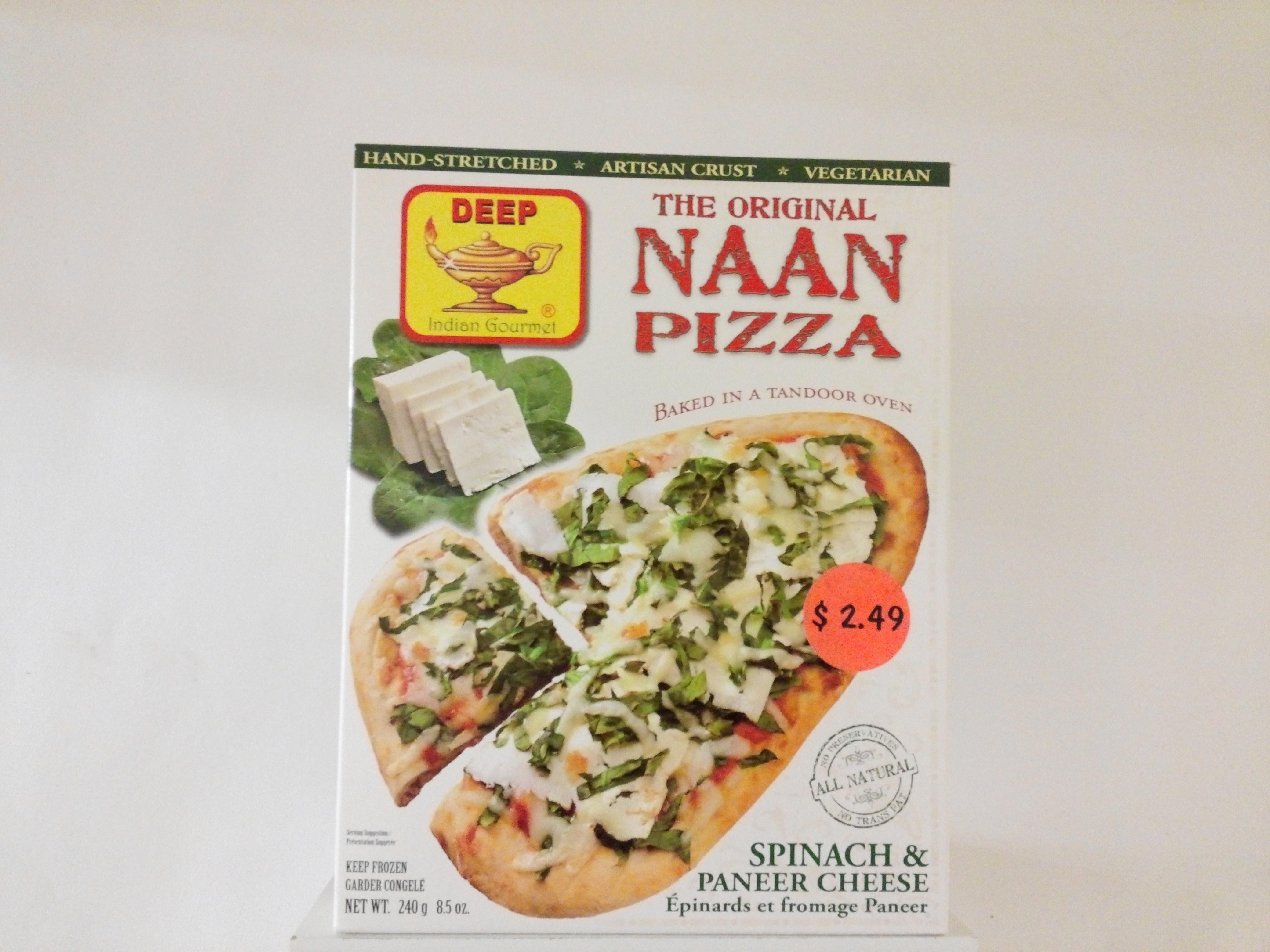 Deep's The Original Pizza ( Spinach & Paneer Cheese ) 8.5 oz