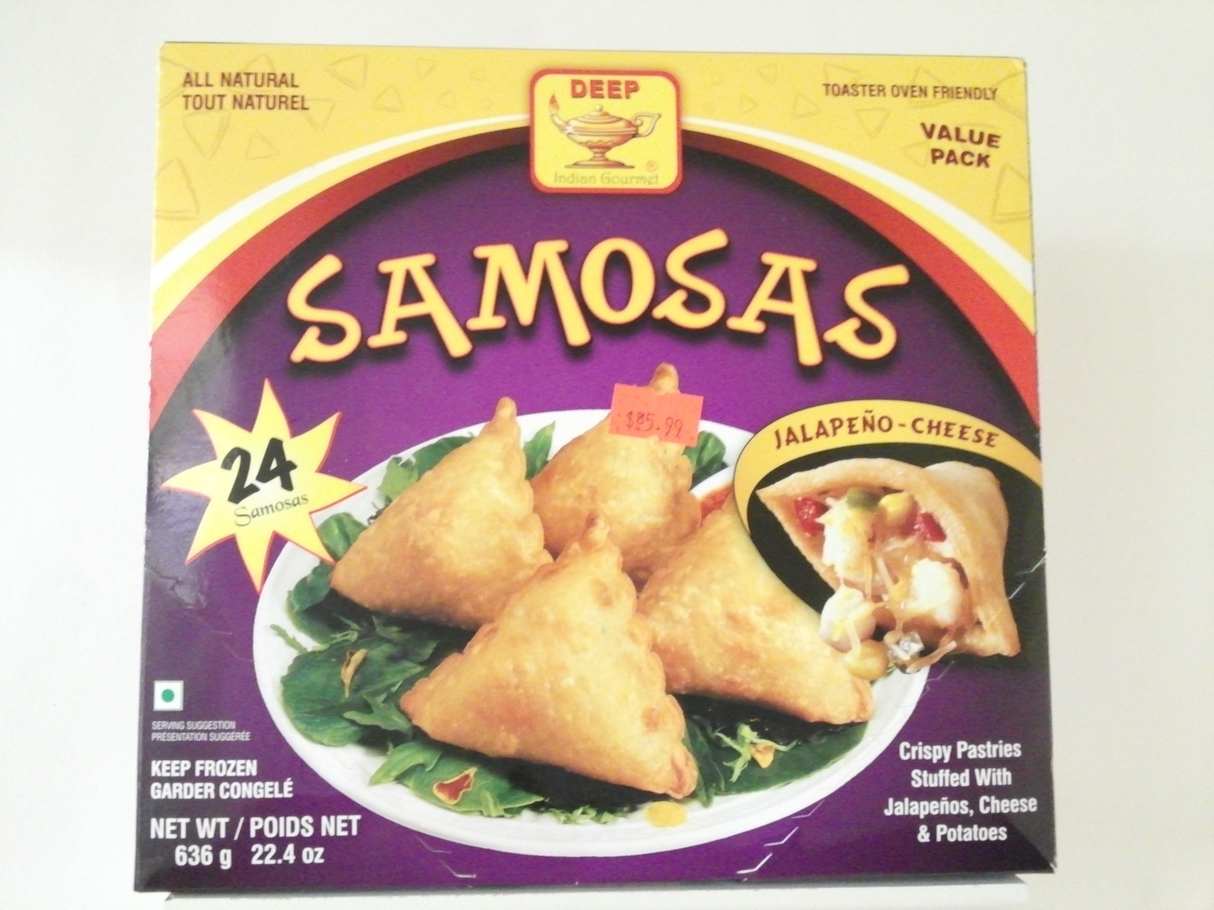 Deep Samosas Jalapeno-Cheese 24 pcs 22.4 oz
