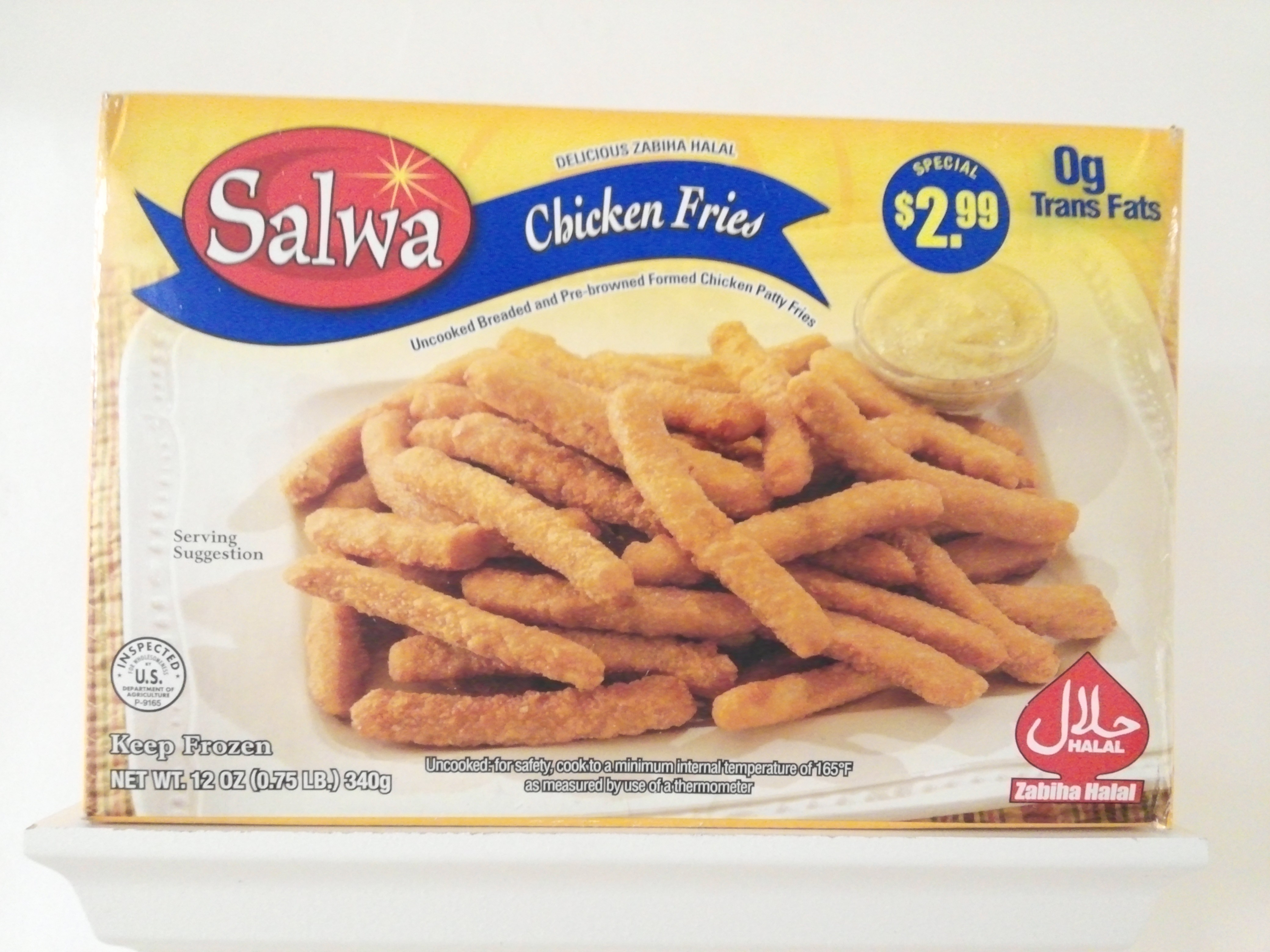 Salwa Chicken Fries 12 oz