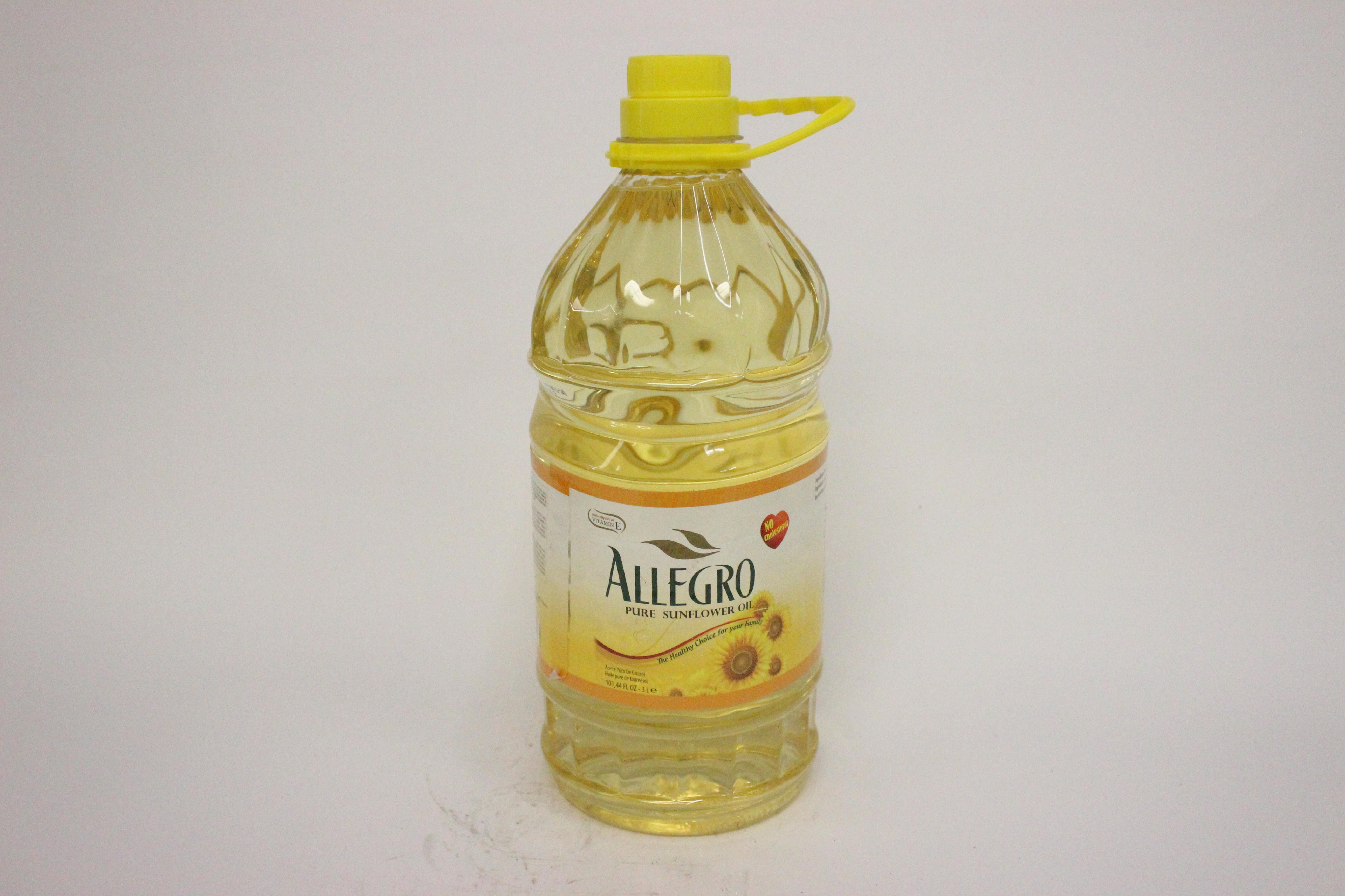 Allegro Pure Sunflower Oil 3 L