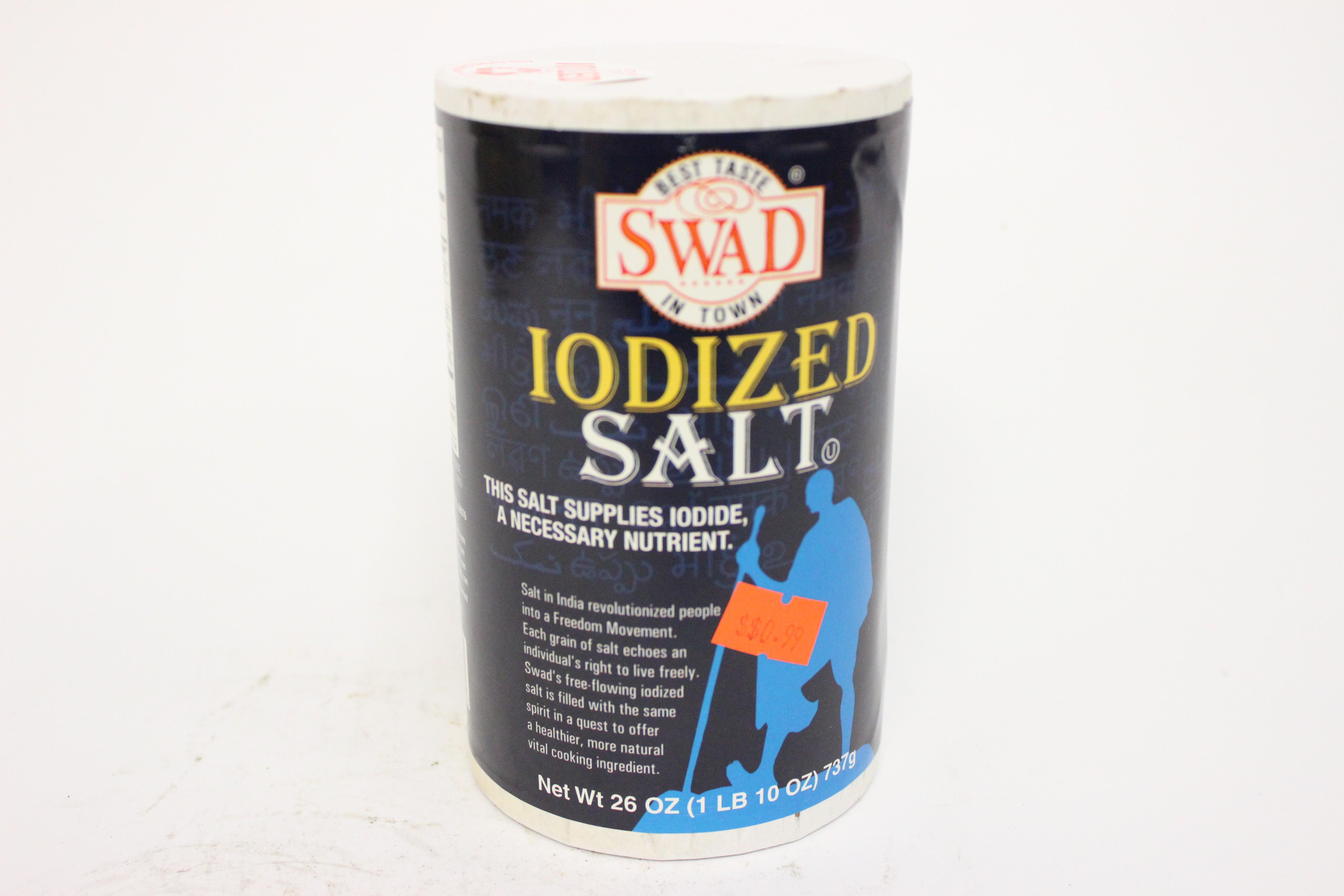 Non Iodized Sea Salt Brands Swad iodized salt 26 oz