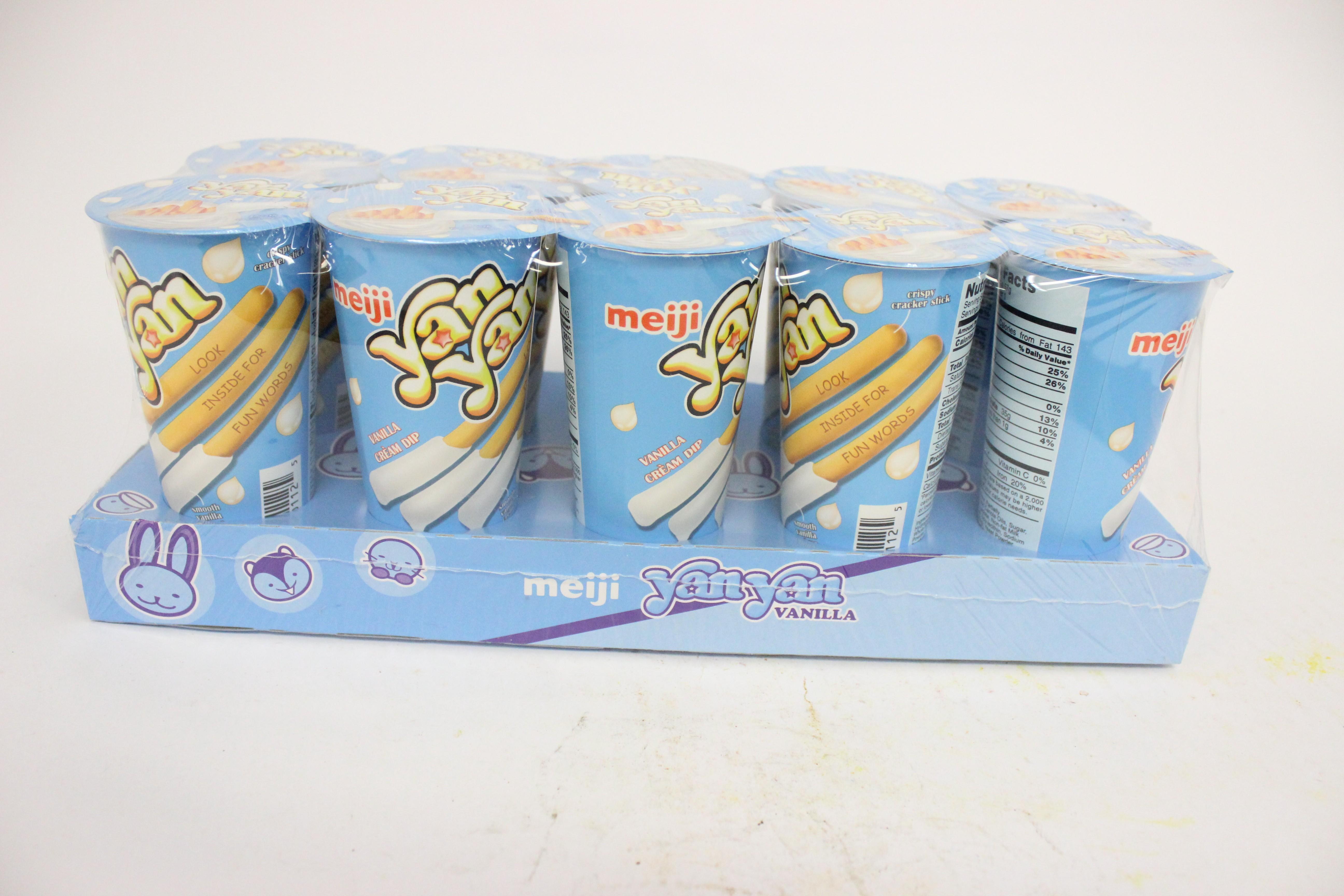 Yan Yan Vanilla Cream Dip 2 oz 10 Pack