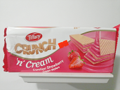 Tiffany Crunchiest Strawberry Cream Wafers 5.38 oz