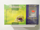 Alokozay Green Tea 100 Bags with a free mug