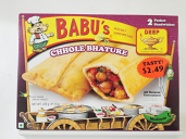 Babu's Chhole Bhature Pocket Sandwich 8 oz